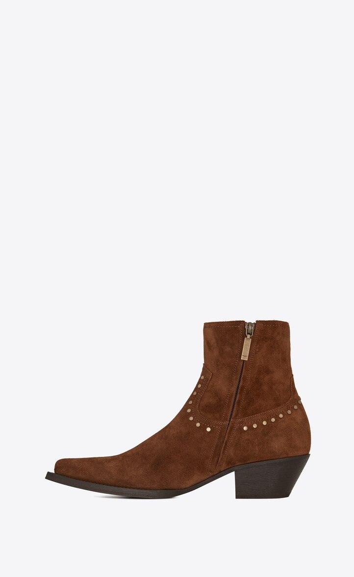 유럽직배송 입생로랑 SAINT LAURENT LUKAS boots in suede with studs 6031881NZTT2330