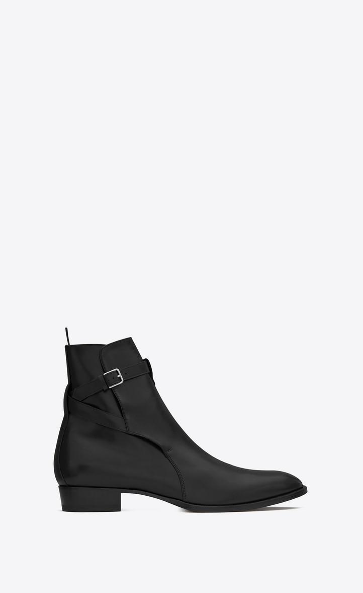 유럽직배송 입생로랑 SAINT LAURENT wyatt jodhpur boots in smooth leather 443200AQS001000