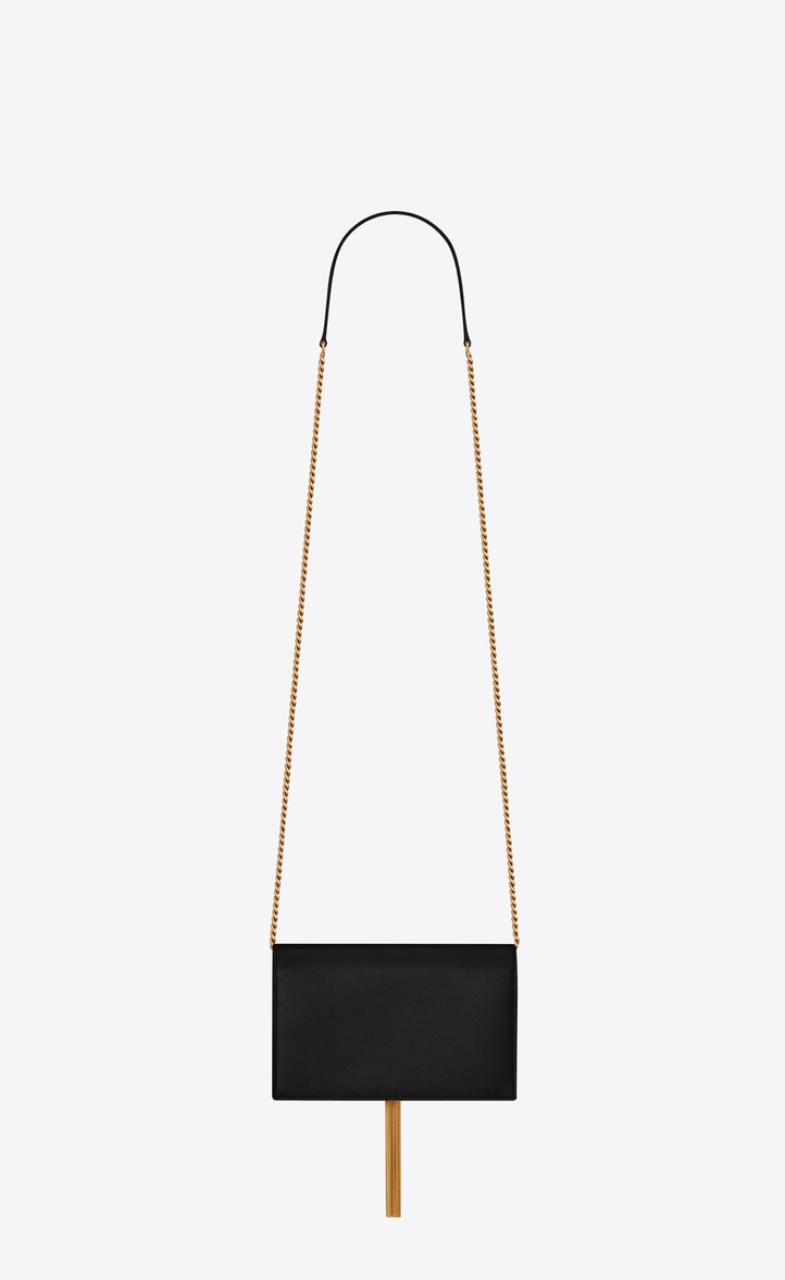 유럽직배송 입생로랑 SAINT LAURENT Kate chain wallet with tassel in grain de poudre embossed leather 452159BOW0J6515