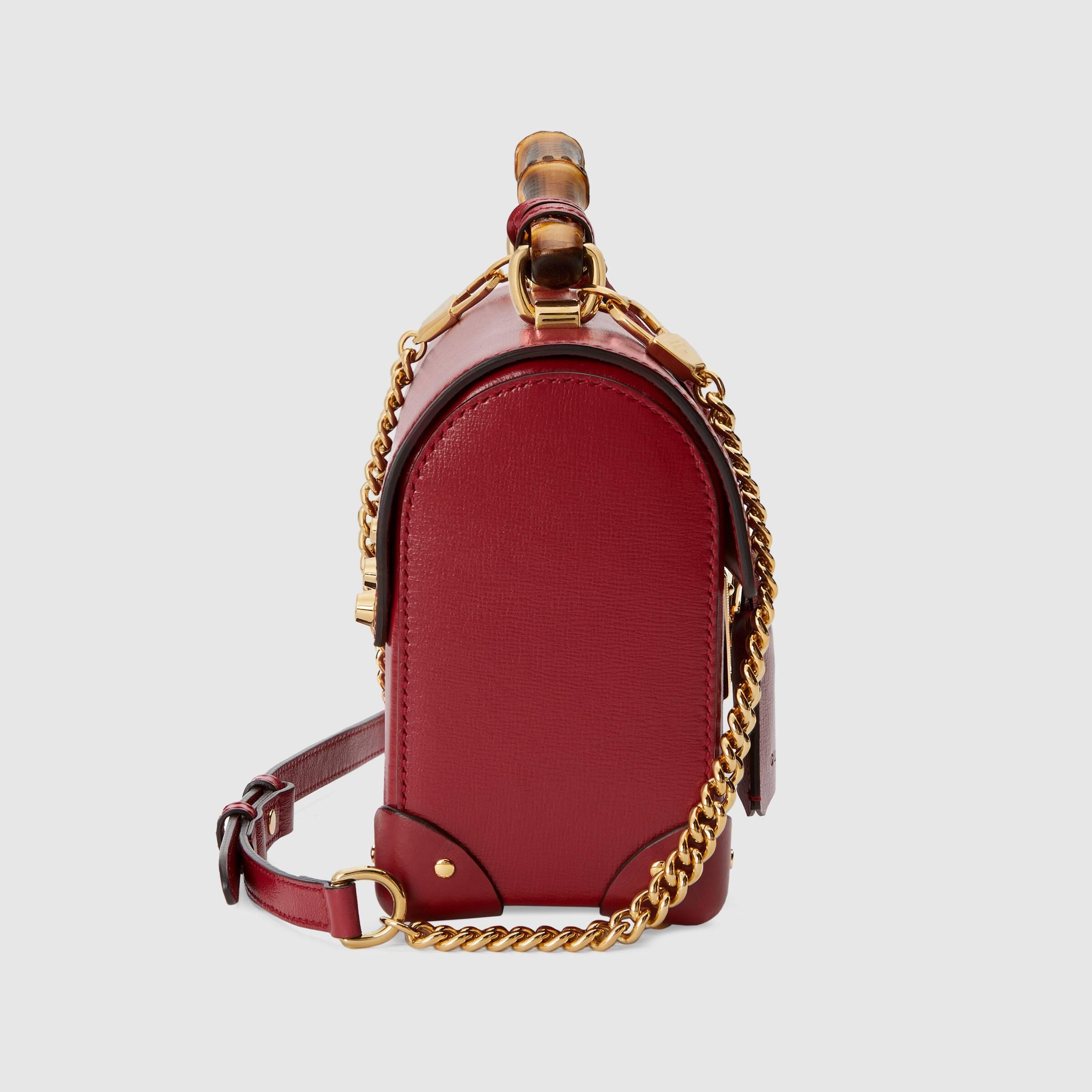 유럽직배송 구찌 GUCCI Padlock small bamboo shoulder bag 6032211DBRG6438