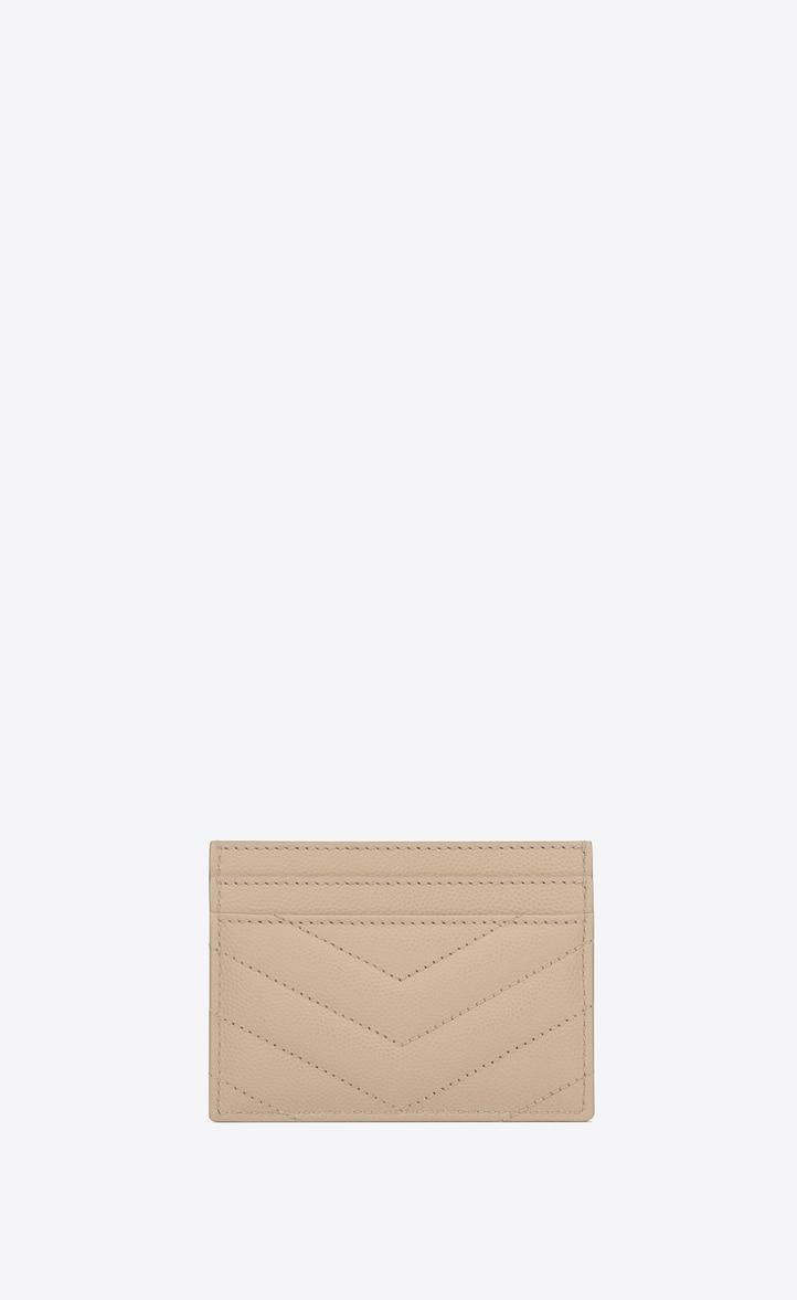 유럽직배송 입생로랑 SAINT LAURENT Monogram card case in grain de poudre embossed leather 423291BOW015553
