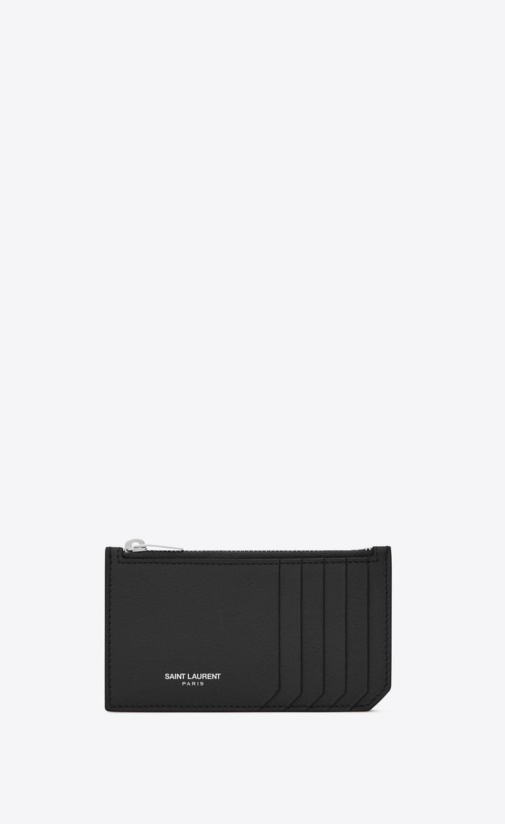 유럽직배송 입생로랑 SAINT LAURENT fragments zipped card case in grained leather 458583B680N5548