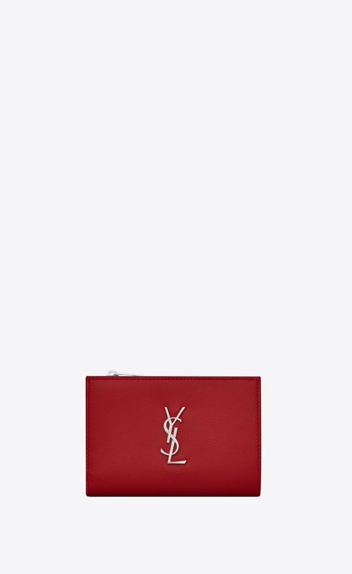 유럽직배송 입생로랑 SAINT LAURENT MONOGRAM Zippered two-part wallet in smooth leather 5841220U40N6805