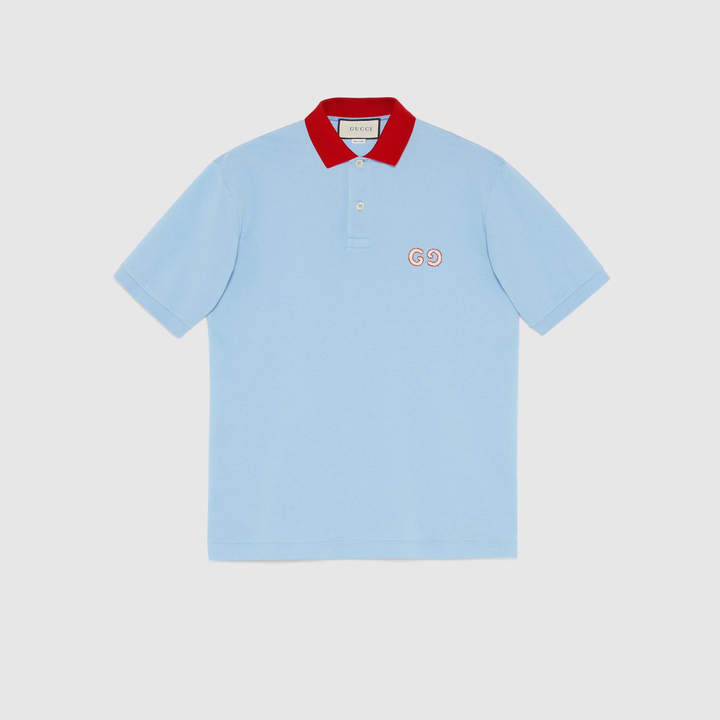 유럽직배송 구찌 GUCCI Polo with GG embroidery 574086XJA6C4192