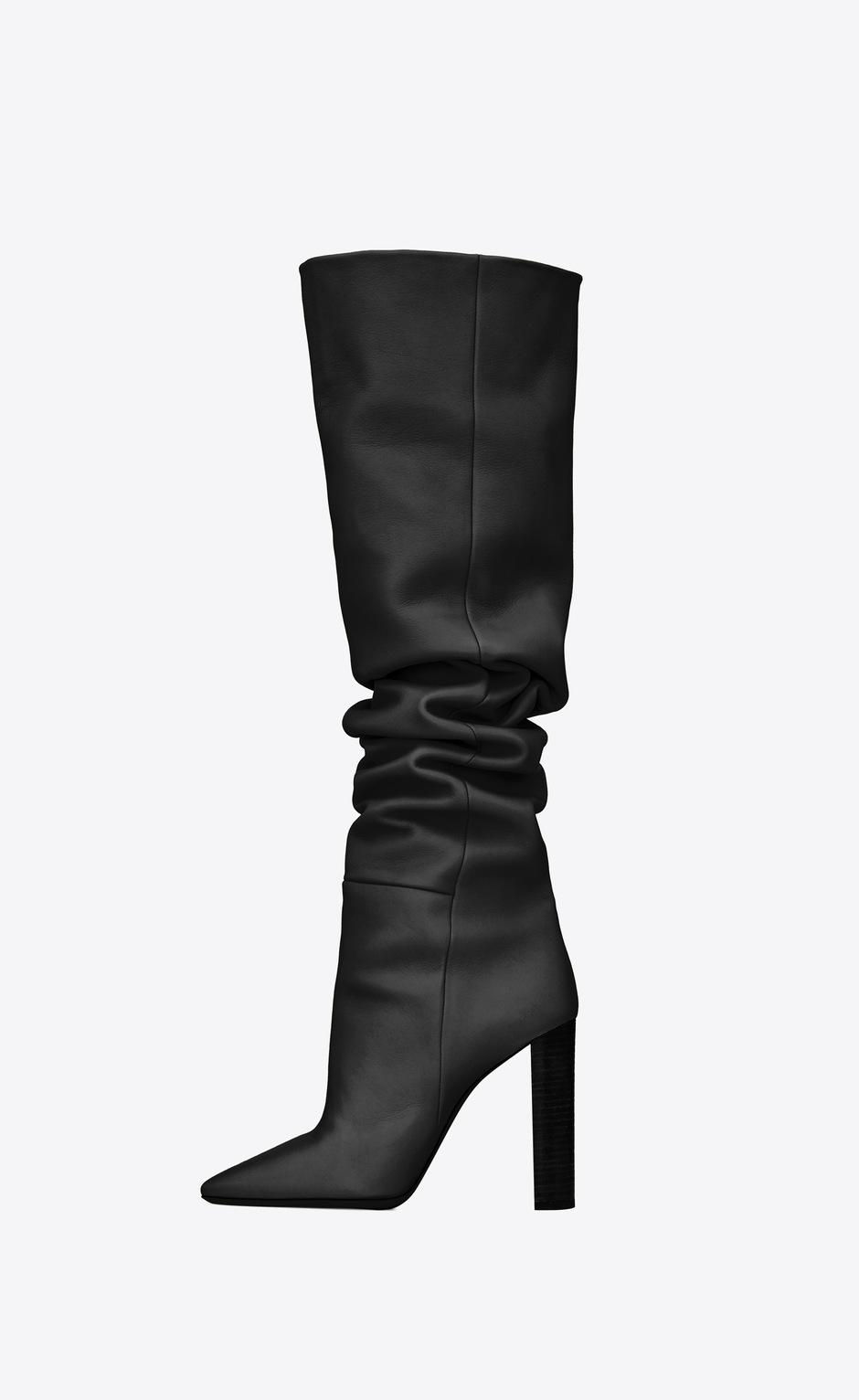 유럽직배송 입생로랑 SAINT LAURENT 76 over-the-knee boots in smooth leather 6201821F2001000
