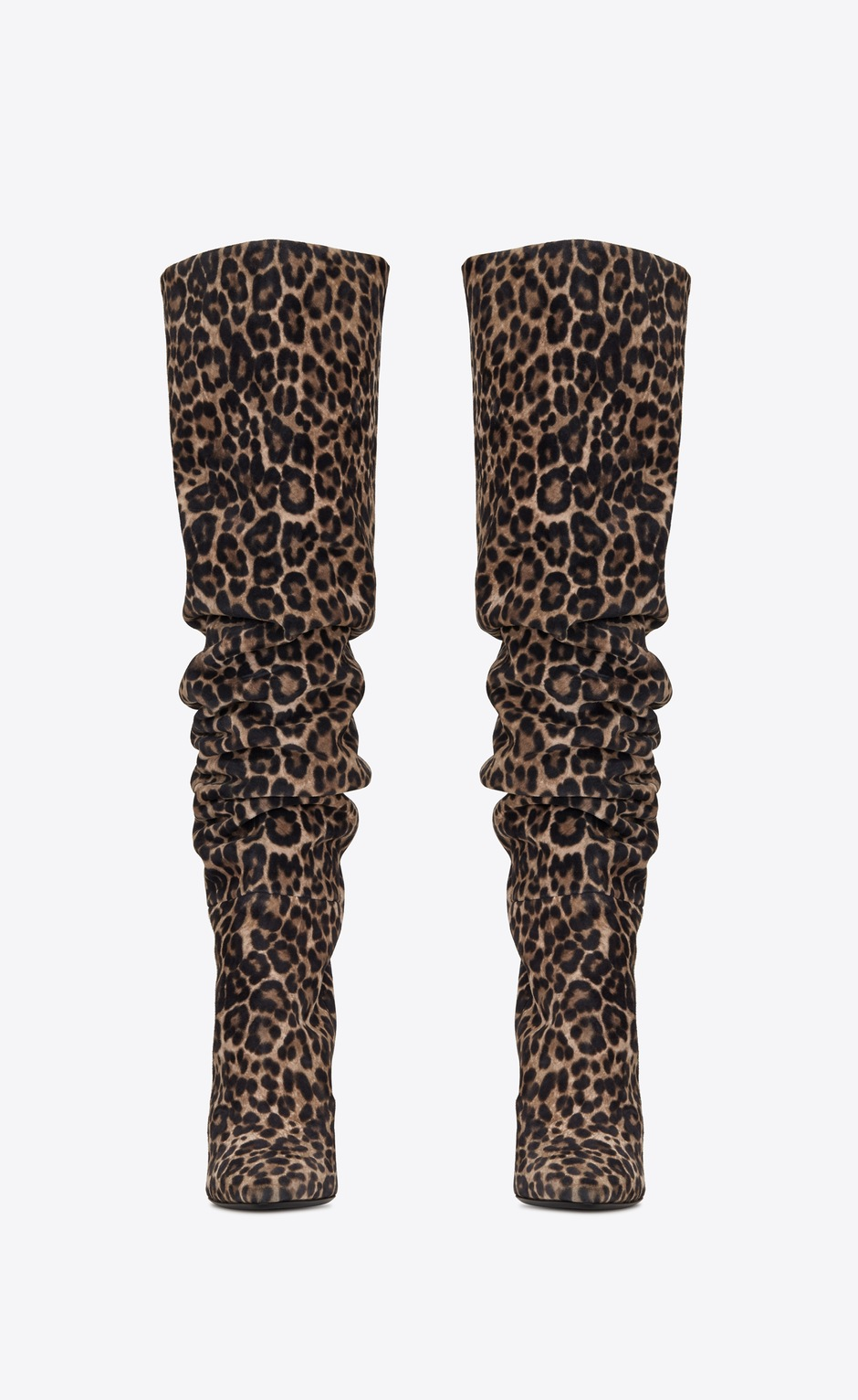 유럽직배송 입생로랑 SAINT LAURENT 76 over-the-knee boots in leopard-print suede 6211201FL001505
