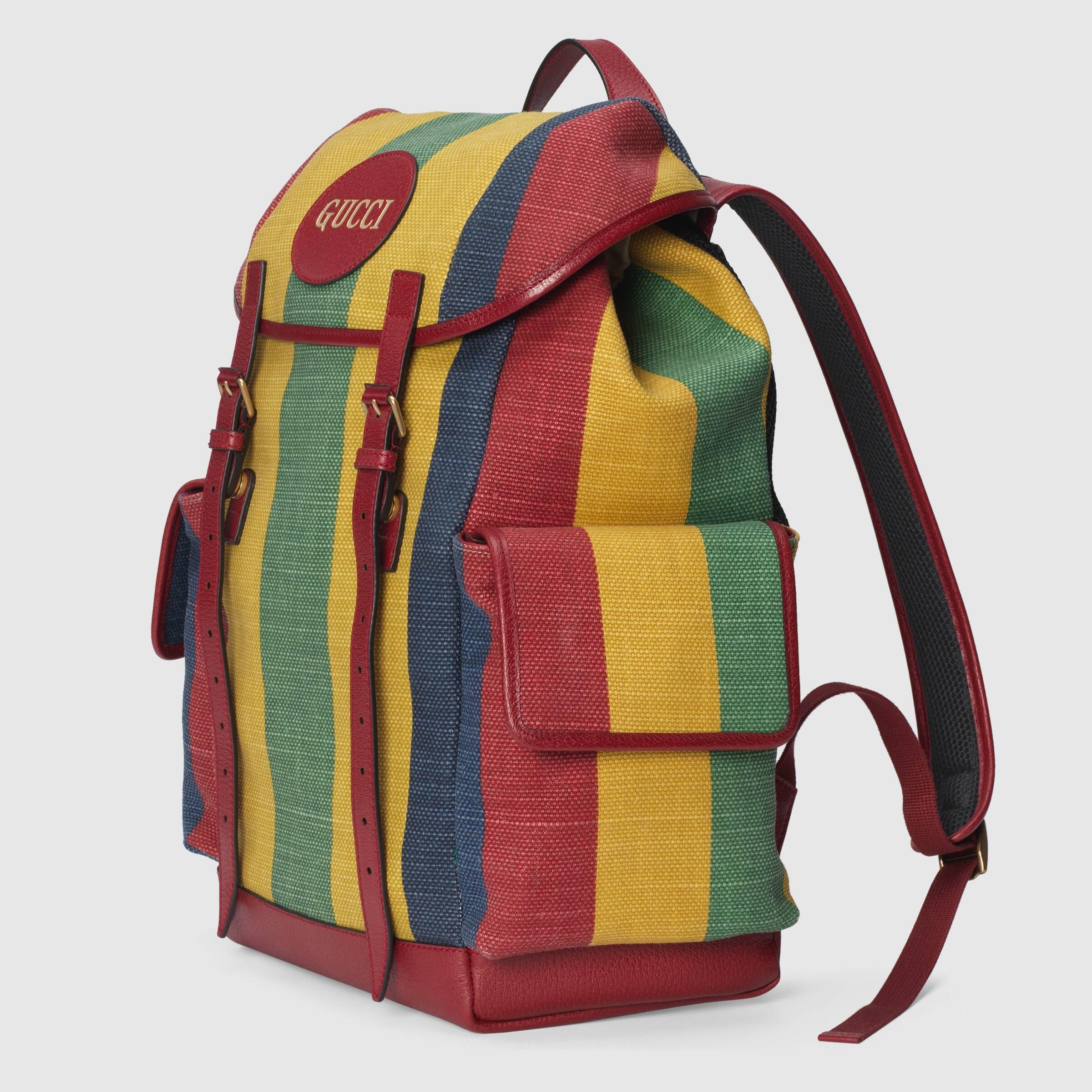 유럽직배송 구찌 GUCCI Gucci Baiadera stripe canvas backpack  6259392CSCT8946