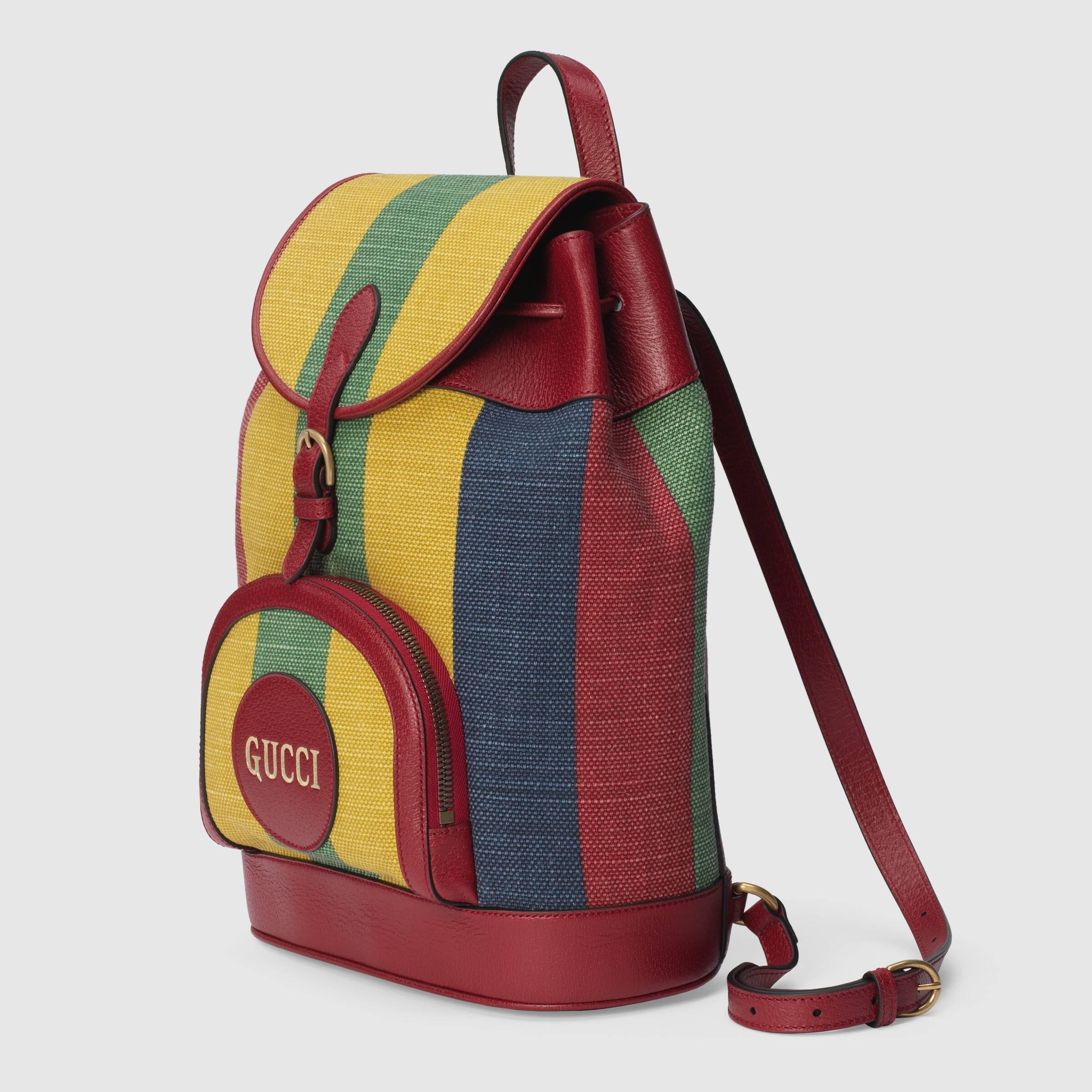 유럽직배송 구찌 GUCCI Gucci Baiadera stripe canvas backpack  6259092CSAT8946