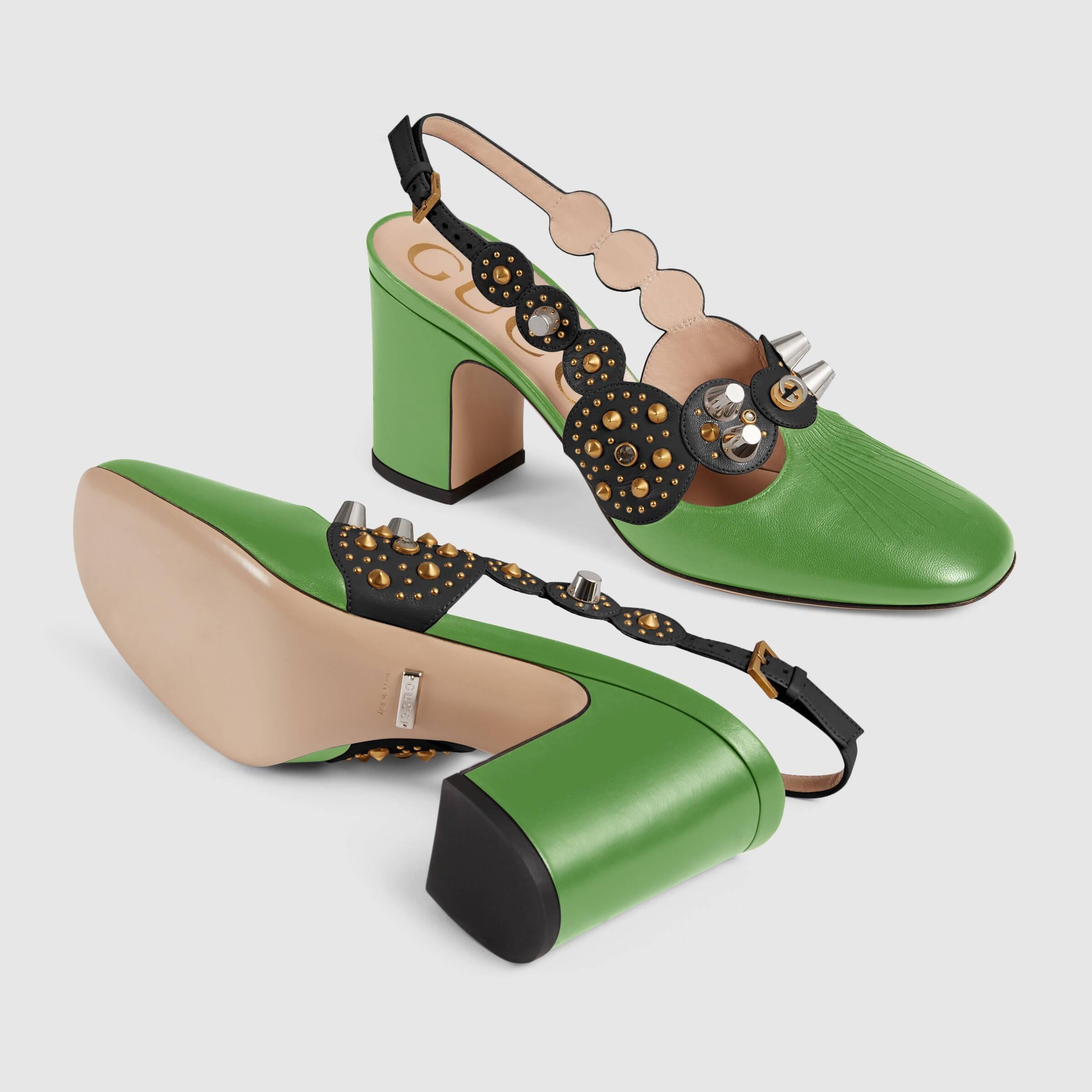 유럽직배송 구찌 GUCCI Gucci Women's mid-heel pump with studs 626223BTMQ03780
