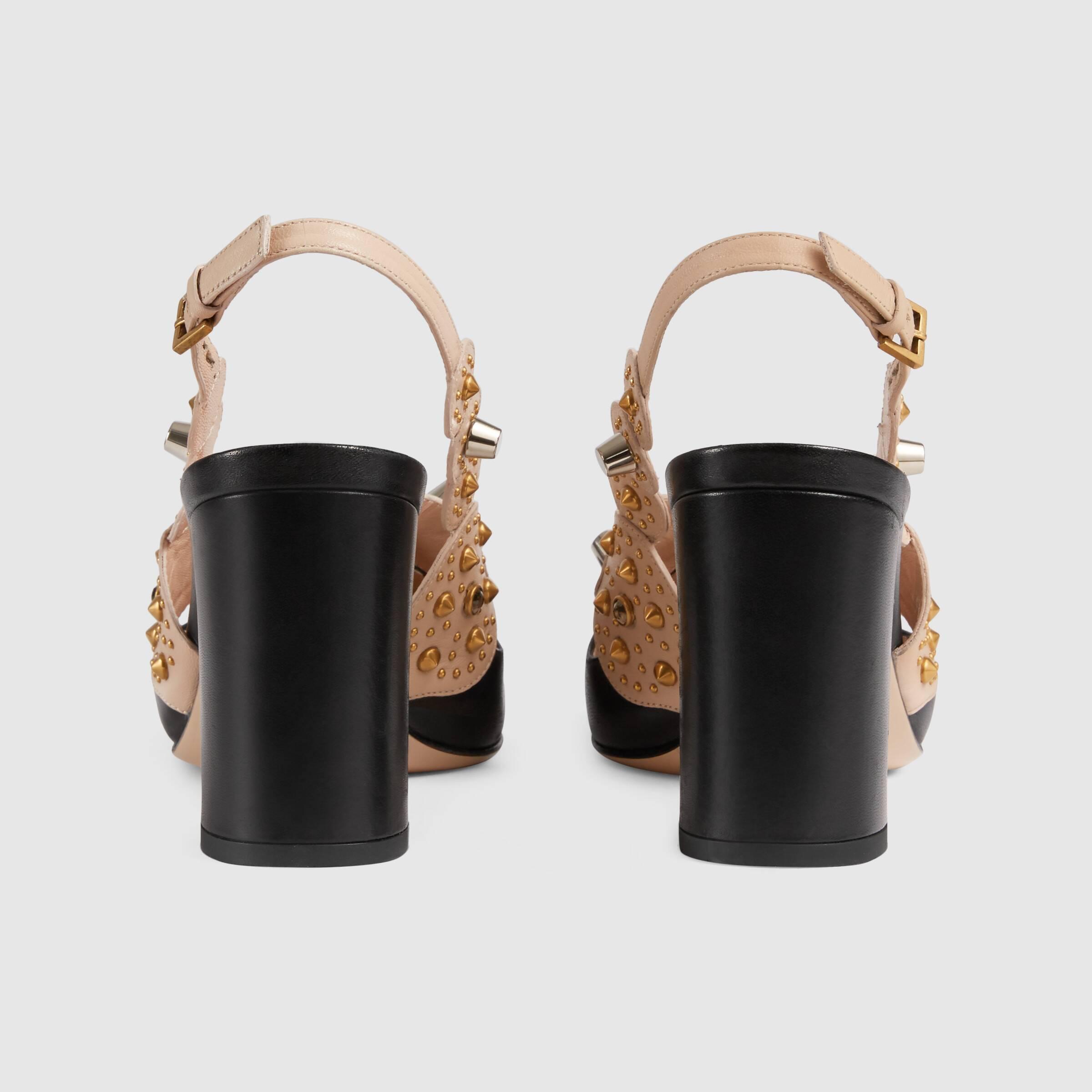 유럽직배송 구찌 GUCCI Gucci Women's mid-heel pump with studs 626223BTMQ01082