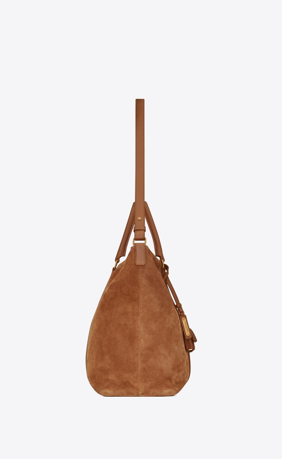 유럽직배송 입생로랑 SAINT LAURENT DUFFLE Supple sac de jour in suede and leather 6235871S75W7761