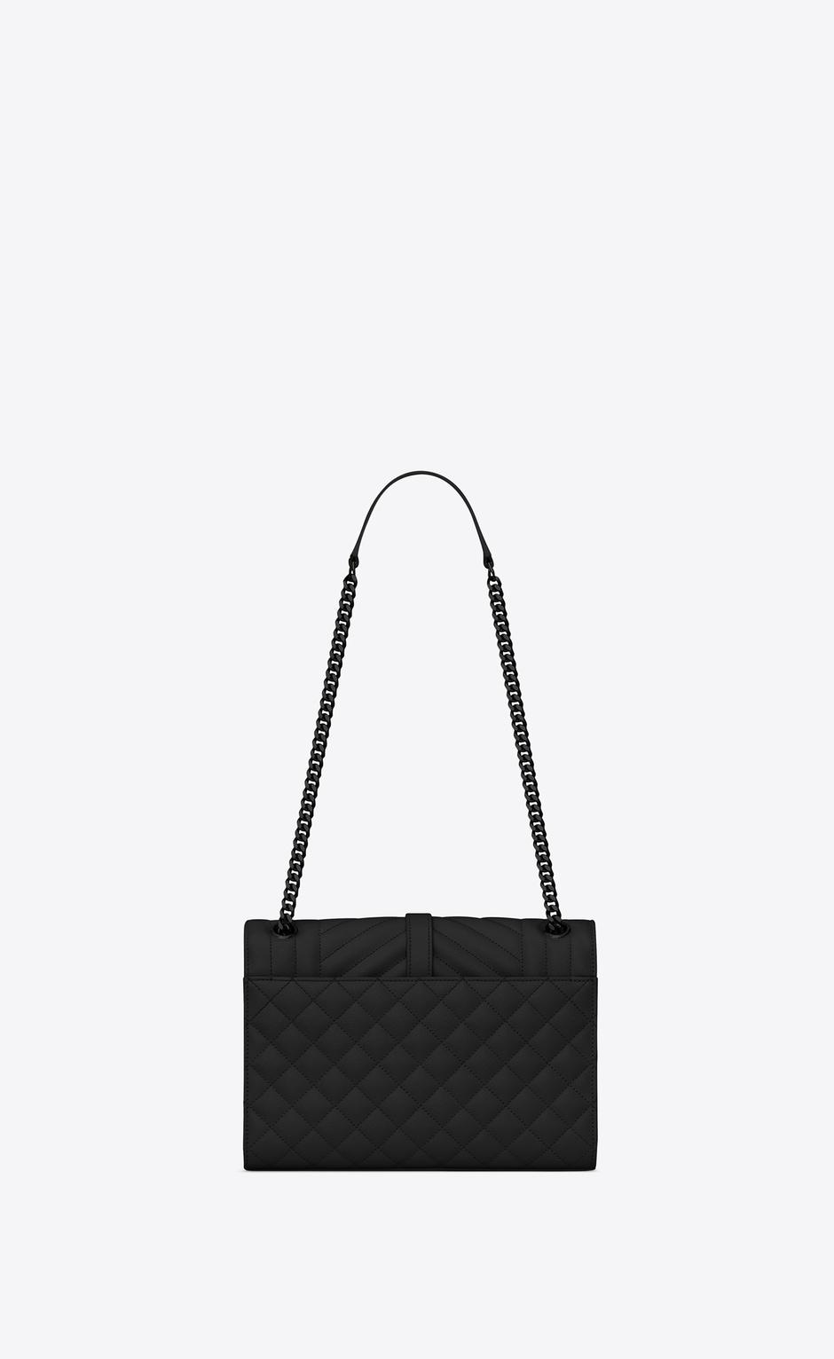 유럽직배송 입생로랑 SAINT LAURENT Envelope Medium bag in MIX MATELASSÉ grain de poudre embossed leather 600185BOW981000