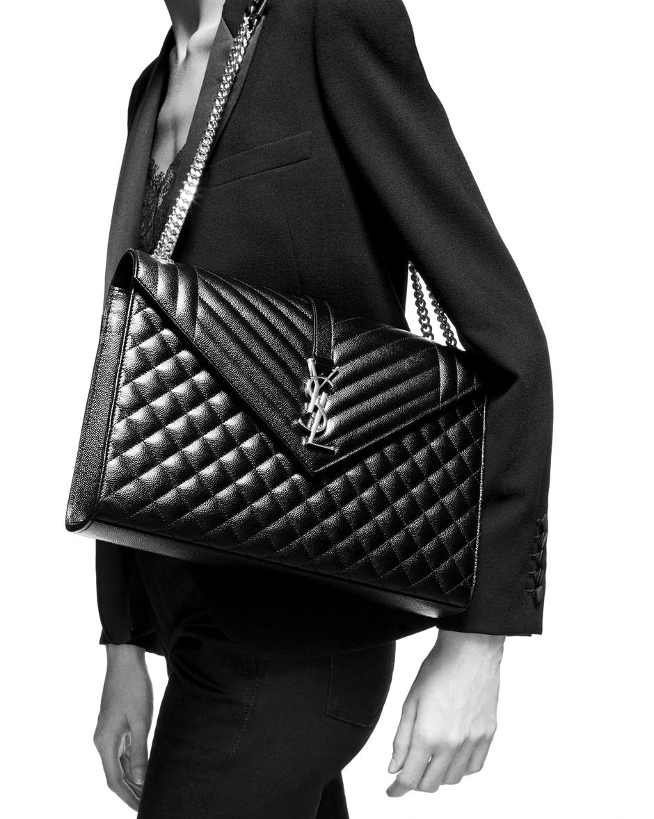 유럽직배송 입생로랑 SAINT LAURENT Envelope large bag in MIX MATELASSÉ grain de poudre embossed leather 600166BOW921000