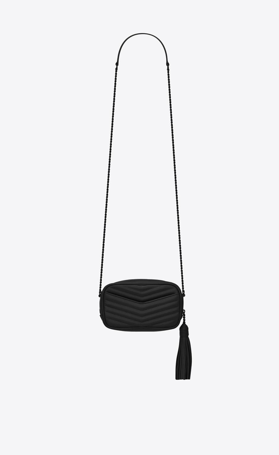 유럽직배송 입생로랑 SAINT LAURENT LOU mini bag in quilted grain de poudre embossed leather 6125791GF081000