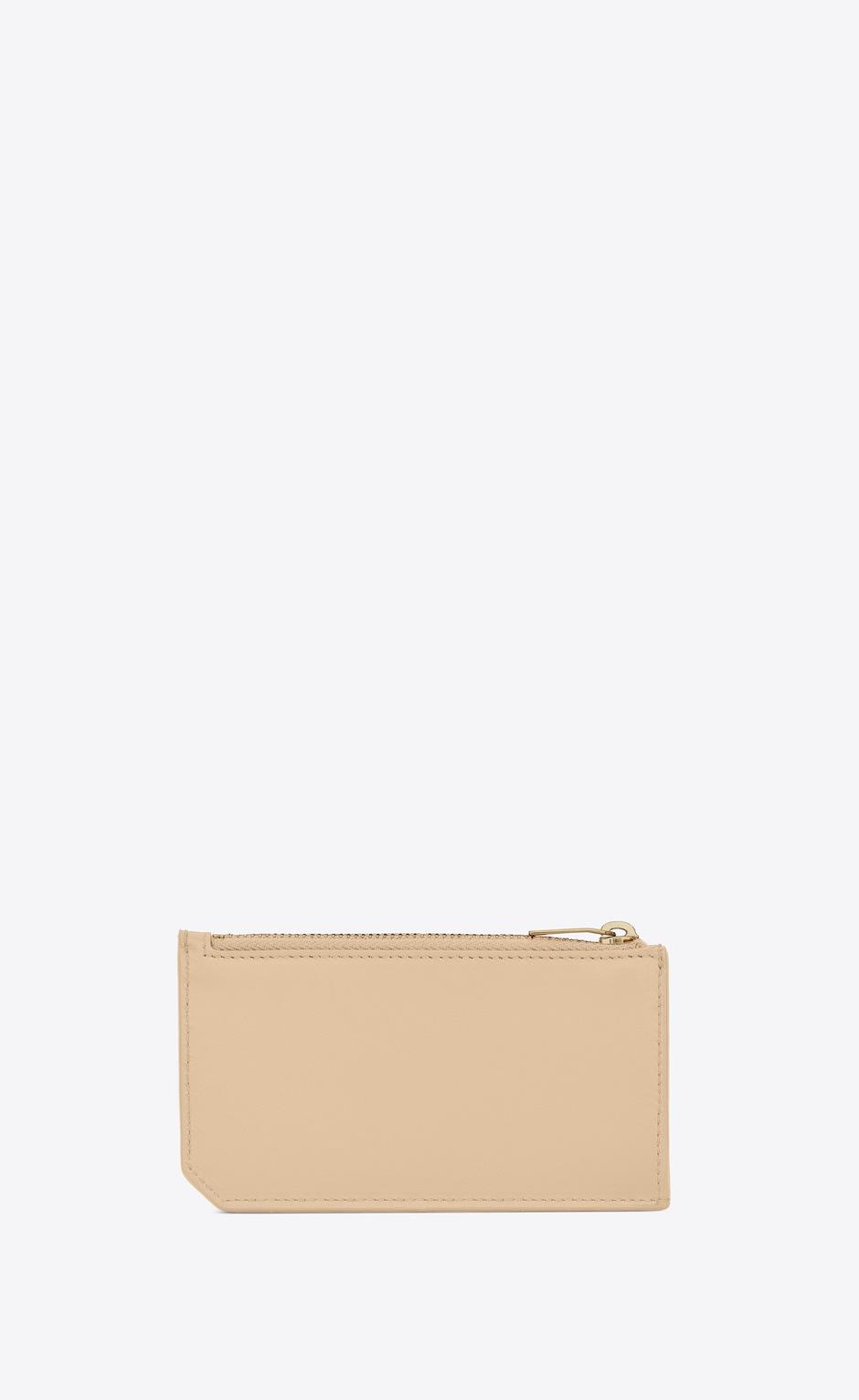 유럽직배송 입생로랑 SAINT LAURENT FRAGMENTS zipped card case in matte leather 6319921JB0J9141