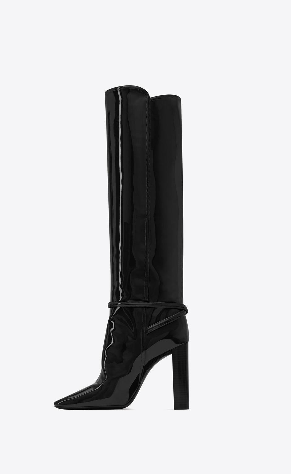 유럽직배송 입생로랑 SAINT LAURENT 76 boots in patent leather 6337271TV001000