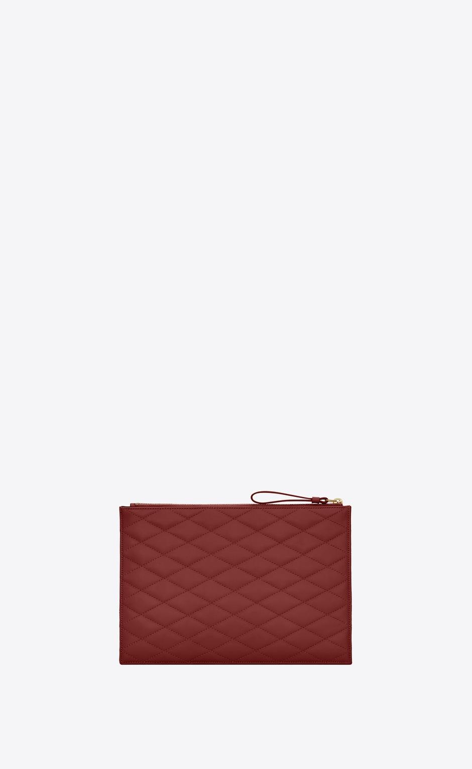 유럽직배송 입생로랑 SAINT LAURENT SADE zip pouch in carré-quilted lambskin 6348811EL016008
