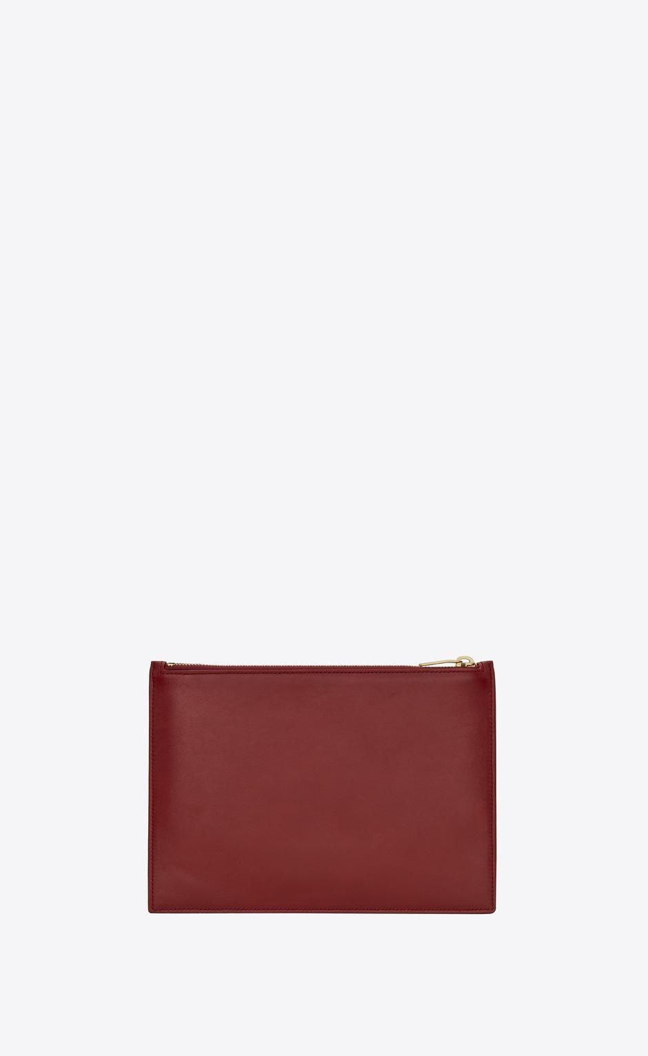 유럽직배송 입생로랑 SAINT LAURENT saint laurent paris medium pouch in matte leather 6350981JB0J6008