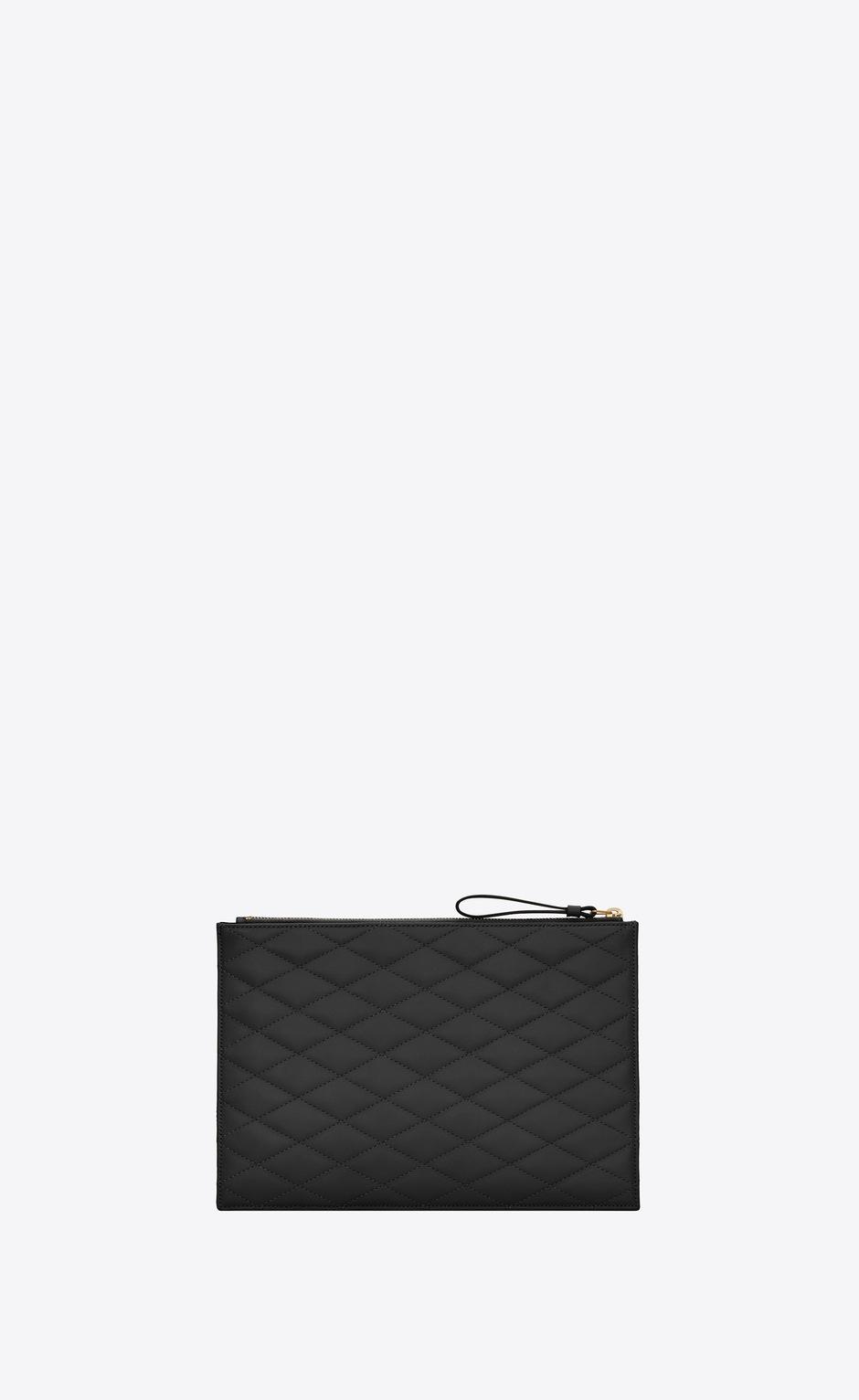 유럽직배송 입생로랑 SAINT LAURENT SADE zip pouch in carré-quilted lambskin 6348811EL011000