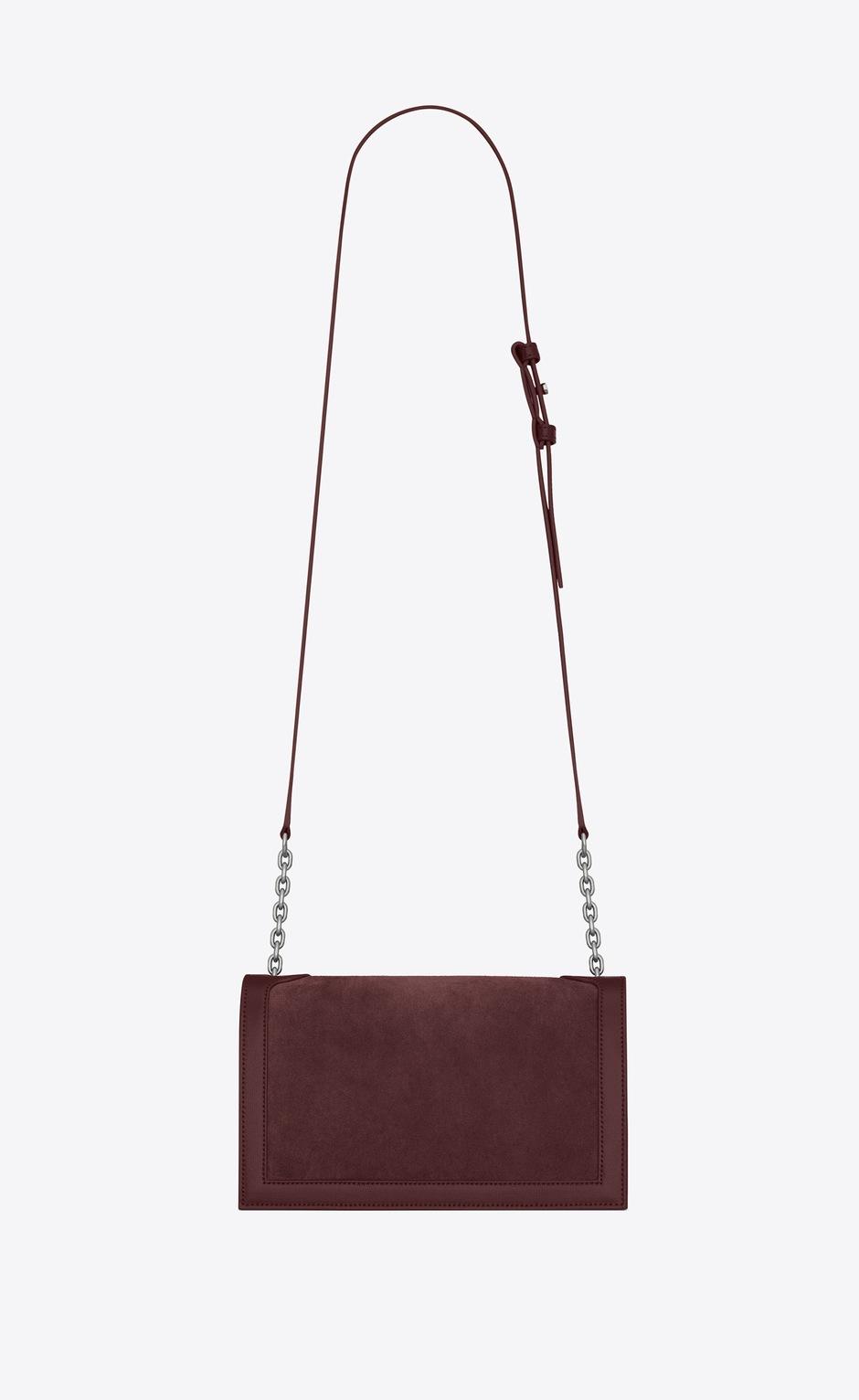 유럽직배송 입생로랑 SAINT LAURENT BOOK BAG in suede and smooth leather 5327560UD4J6475