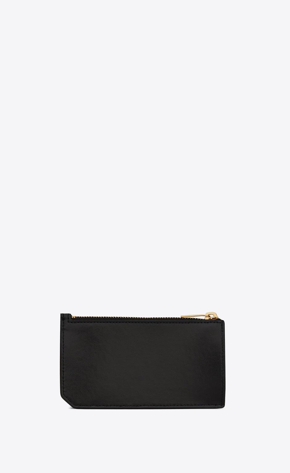 유럽직배송 입생로랑 SAINT LAURENT FRAGMENTS zipped card case in shiny leather 63199203P0J1000