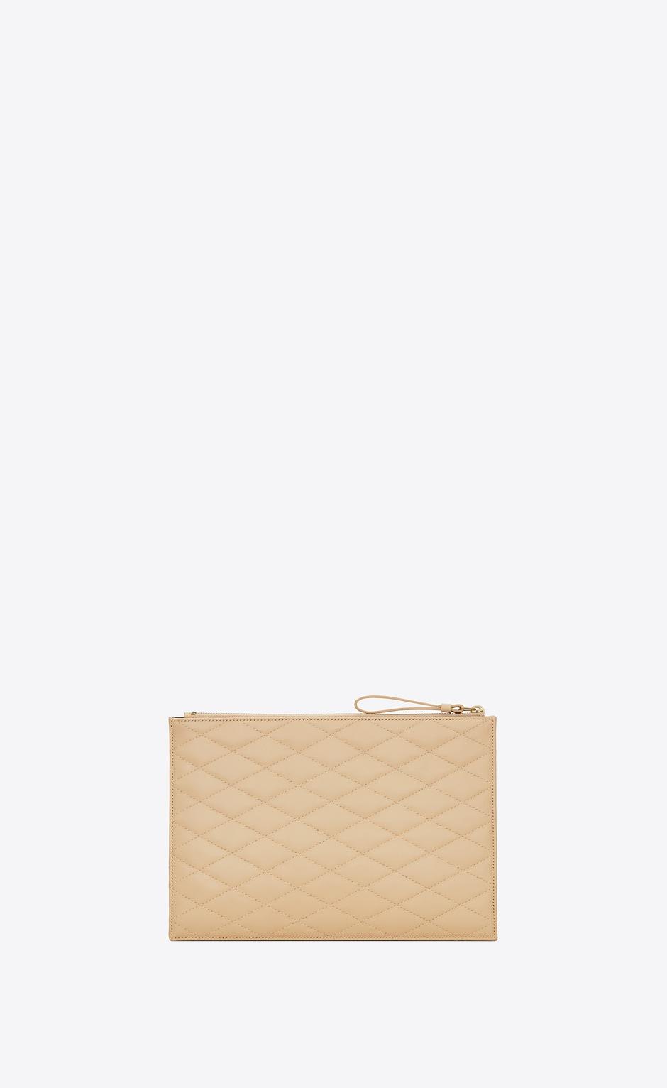 유럽직배송 입생로랑 SAINT LAURENT SADE zip pouch in carré-quilted lambskin 6348811EL019141
