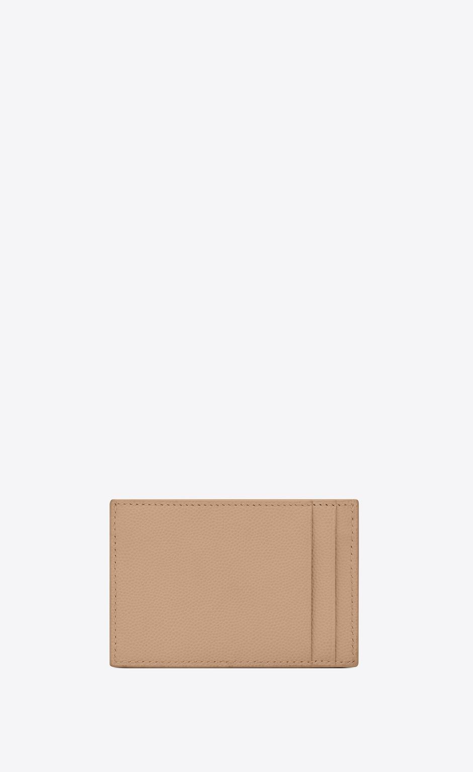 유럽직배송 입생로랑 SAINT LAURENT UPTOWN card case in grain de poudre embossed leather 5823051GF0J2721