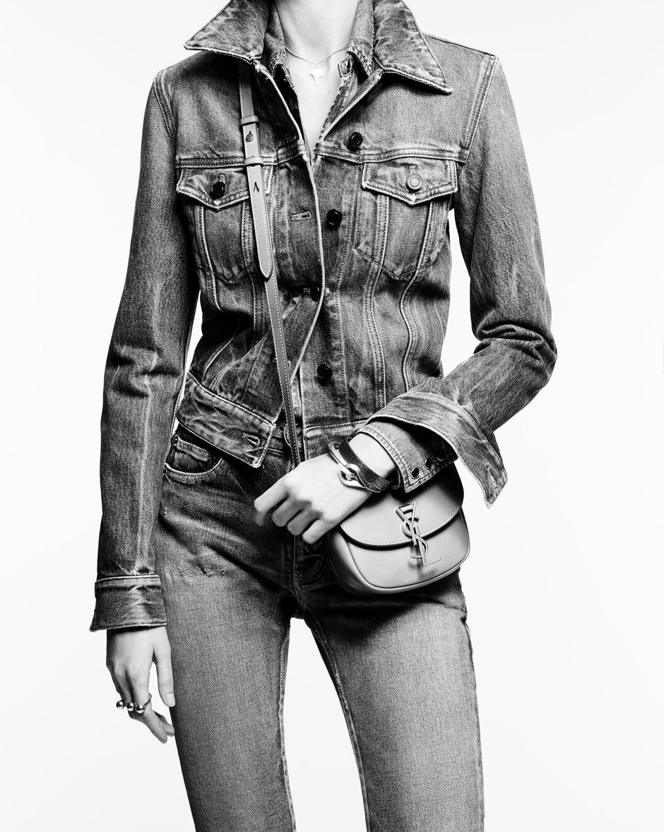 유럽직배송 입생로랑 SAINT LAURENT KAIA small satchel in cotton canvas and vintage leather 619740HZD7W9369