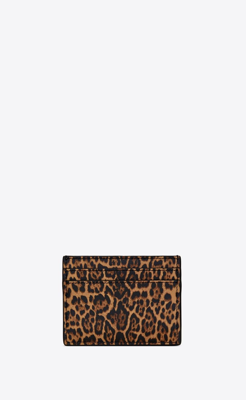 유럽직배송 입생로랑 SAINT LAURENT Card case in leopard-print leather 37077912S0J2673