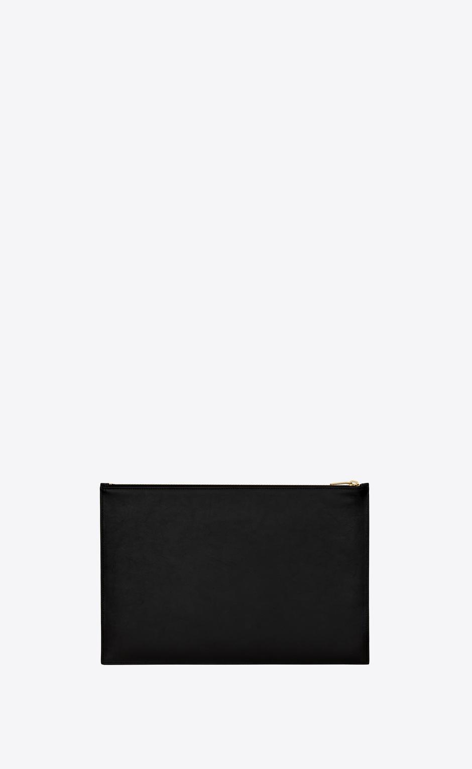 유럽직배송 입생로랑 SAINT LAURENT saint laurent paris medium pouch in shiny leather 63509803P0J1000