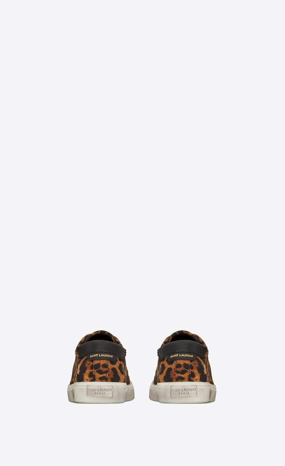 유럽직배송 입생로랑 SAINT LAURENT MALIBU sneakers in leopard-print canvas and leather 6064081VV102038