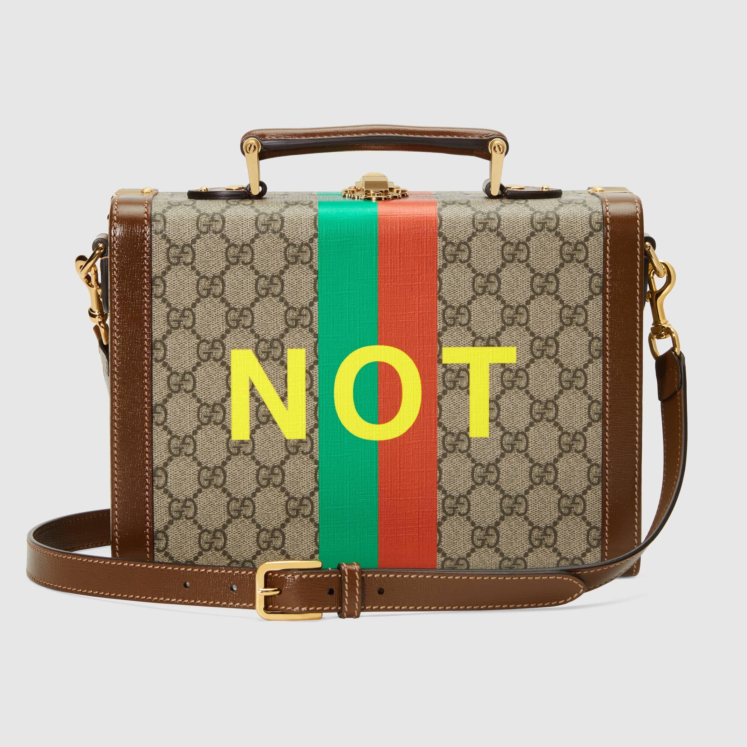 유럽직배송 구찌 GUCCI Gucci 'Fake/Not' print beauty case 6335872GCAG8280