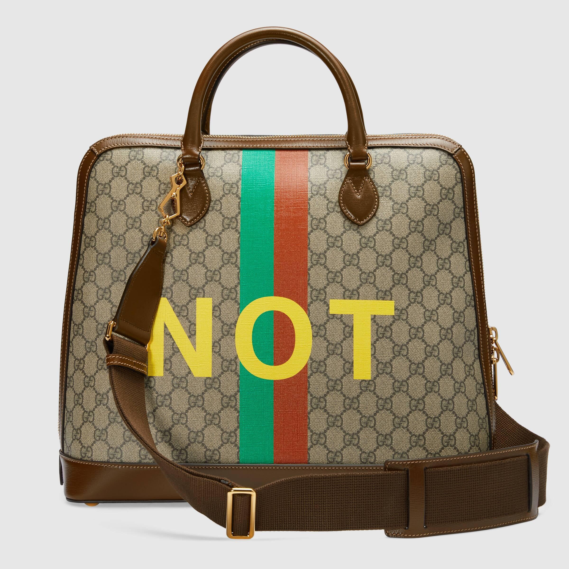 유럽직배송 구찌 GUCCI Gucci - Gucci Horsebit 1955 'Fake/Not' small duffle bag 6216402GCBG8287