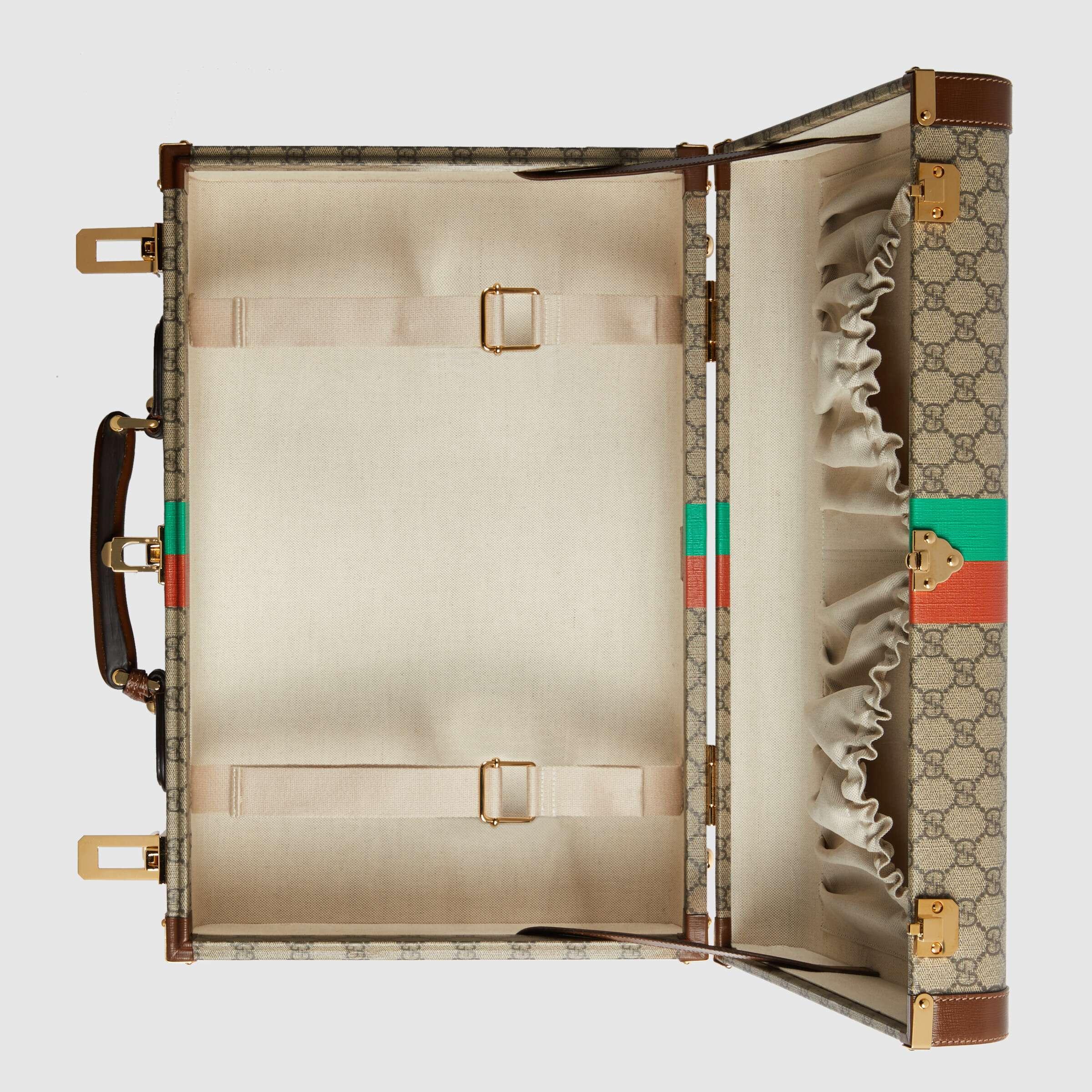 유럽직배송 구찌 GUCCI Gucci 'Fake/Not' print medium suitcase 6116422GCAG8280