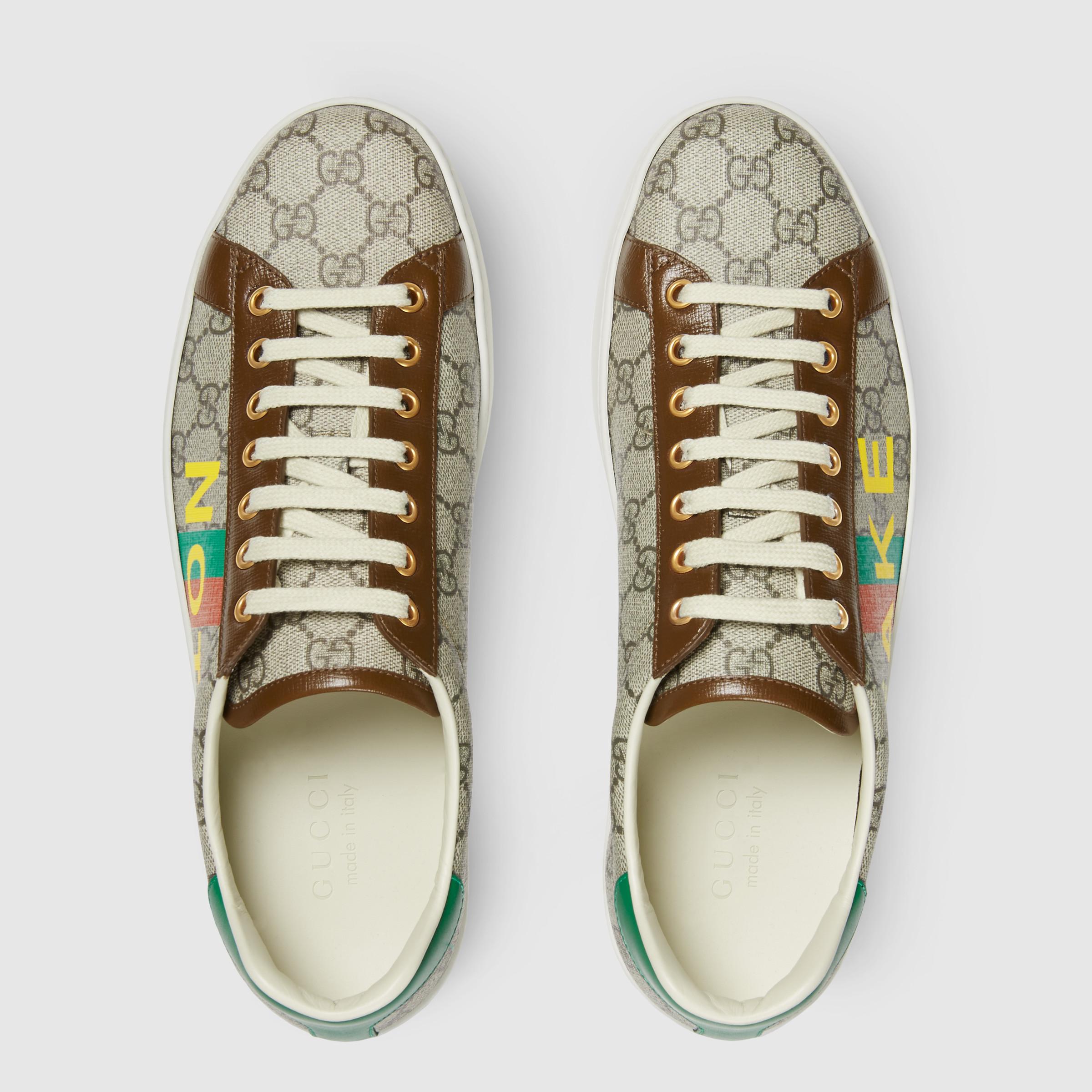 유럽직배송 구찌 GUCCI Gucci Men's 'Fake/Not' print Ace sneaker 6363582GC108260