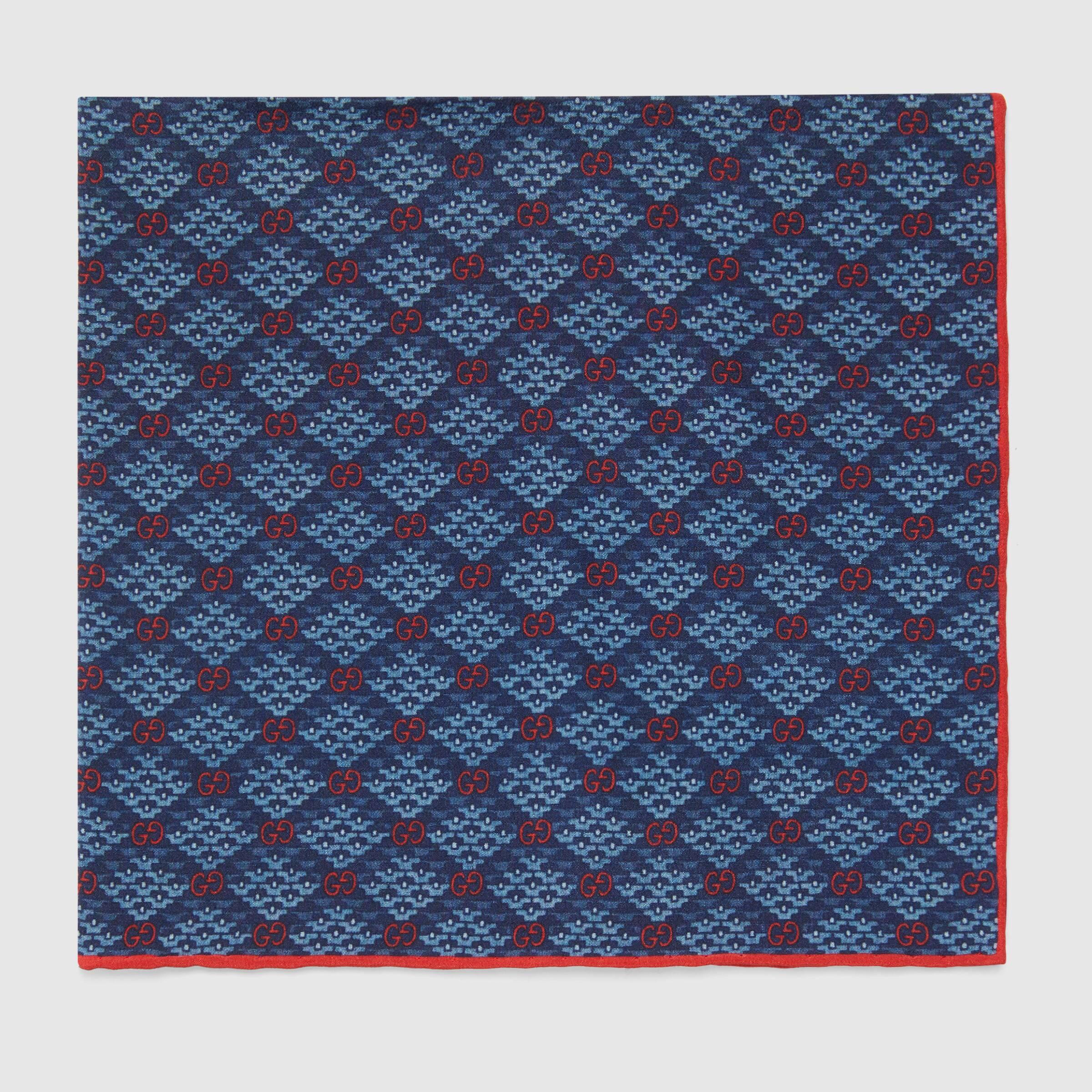 유럽직배송 구찌 GUCCI Gucci GG diamond print silk pocket square 6362714G0054569