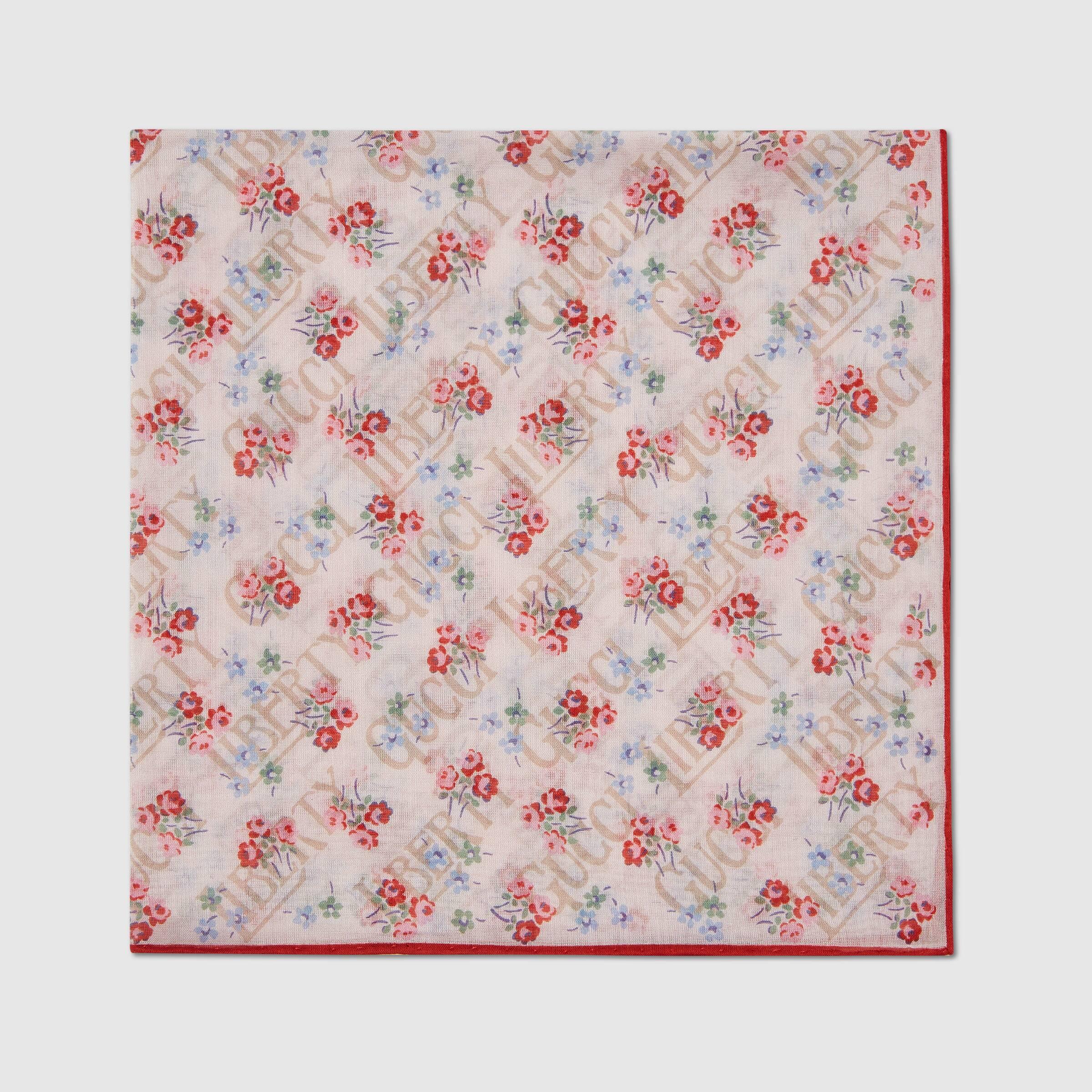 유럽직배송 구찌 GUCCI Gucci - Gucci Liberty floral cotton pocket square 6362744G1099272