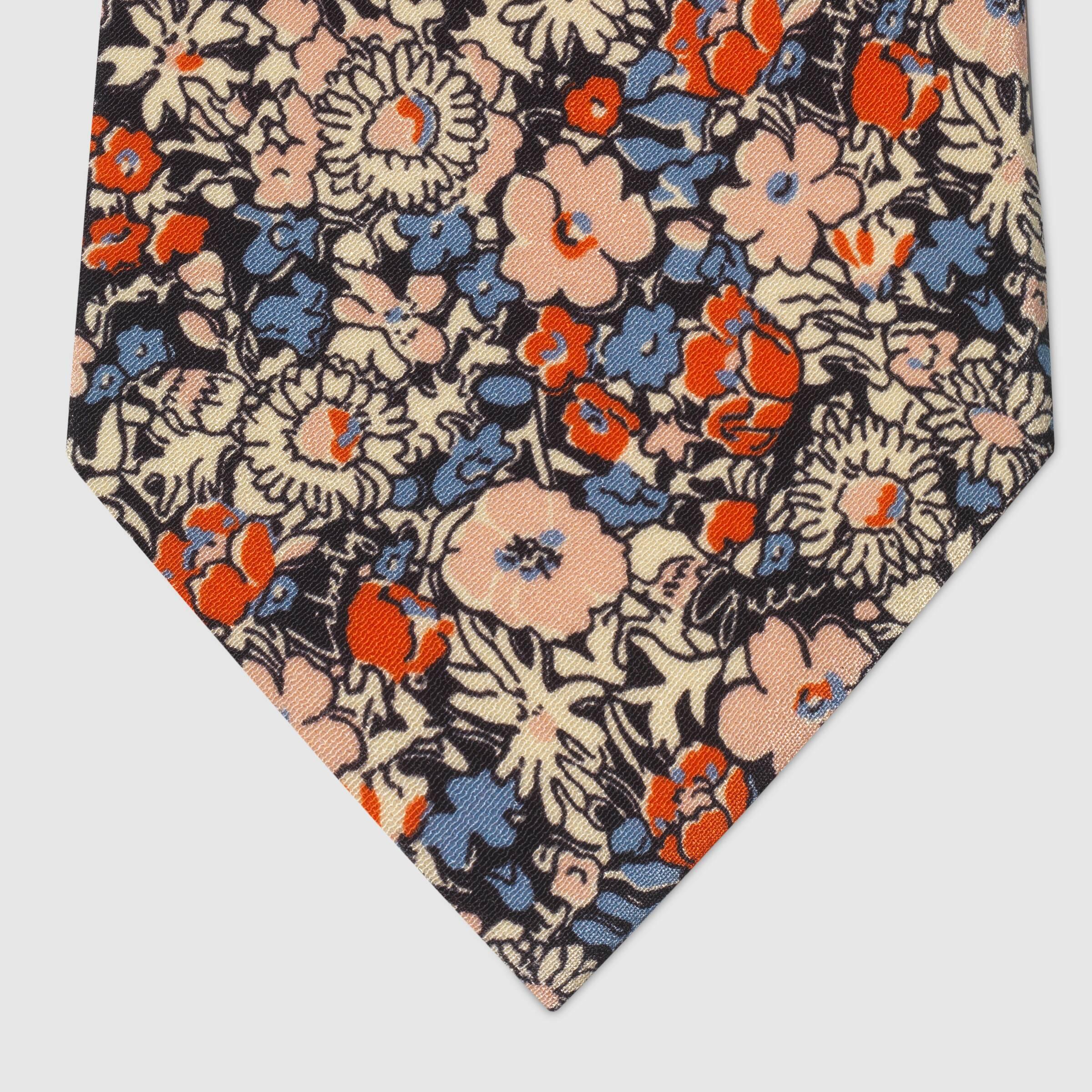 유럽직배송 구찌 GUCCI Gucci - Gucci Liberty floral silk crêpe tie 6341734B0059888