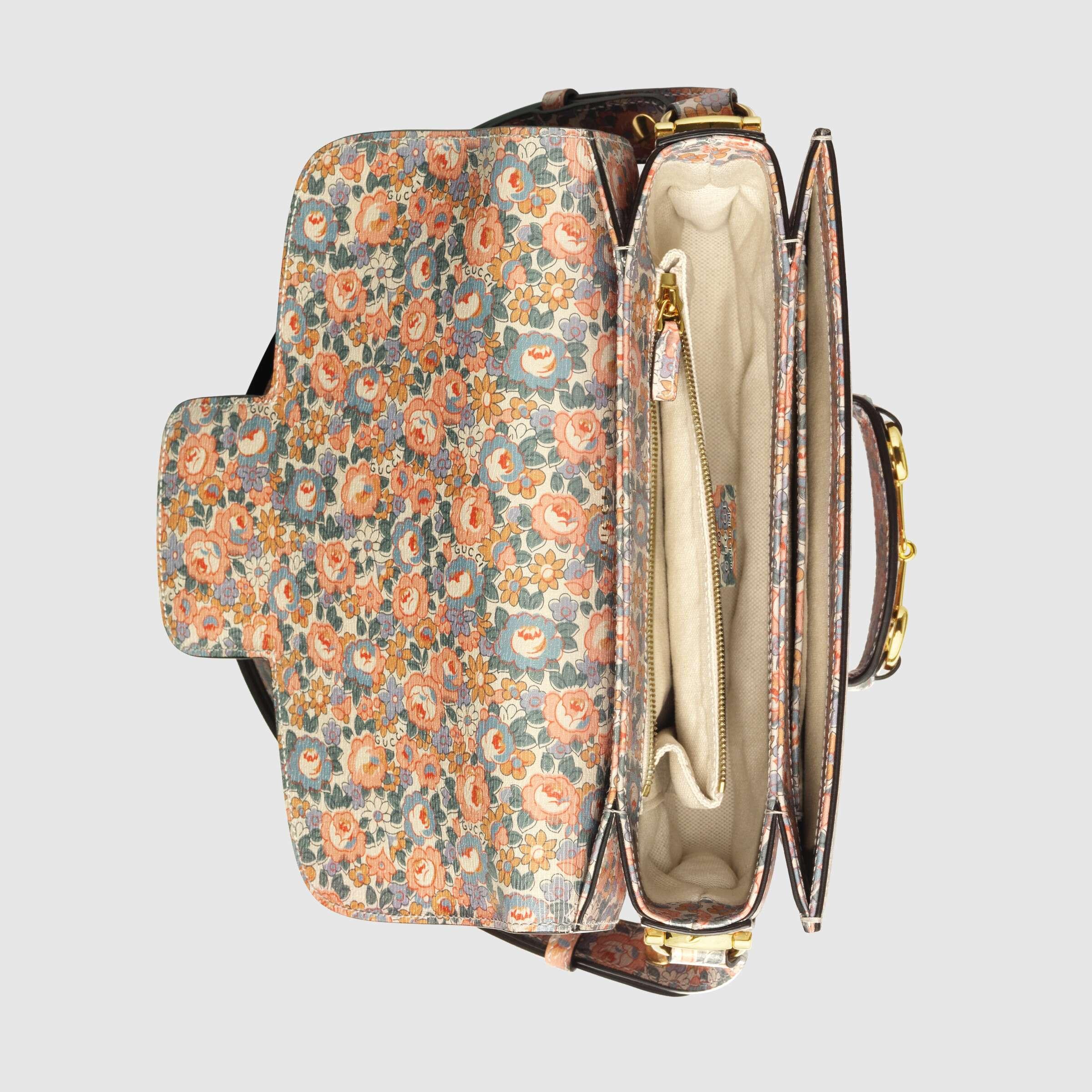 유럽직배송 구찌 GUCCI Gucci - Online Exclusive Gucci Horsebit 1955 Liberty London bag 60220412Q0E5911