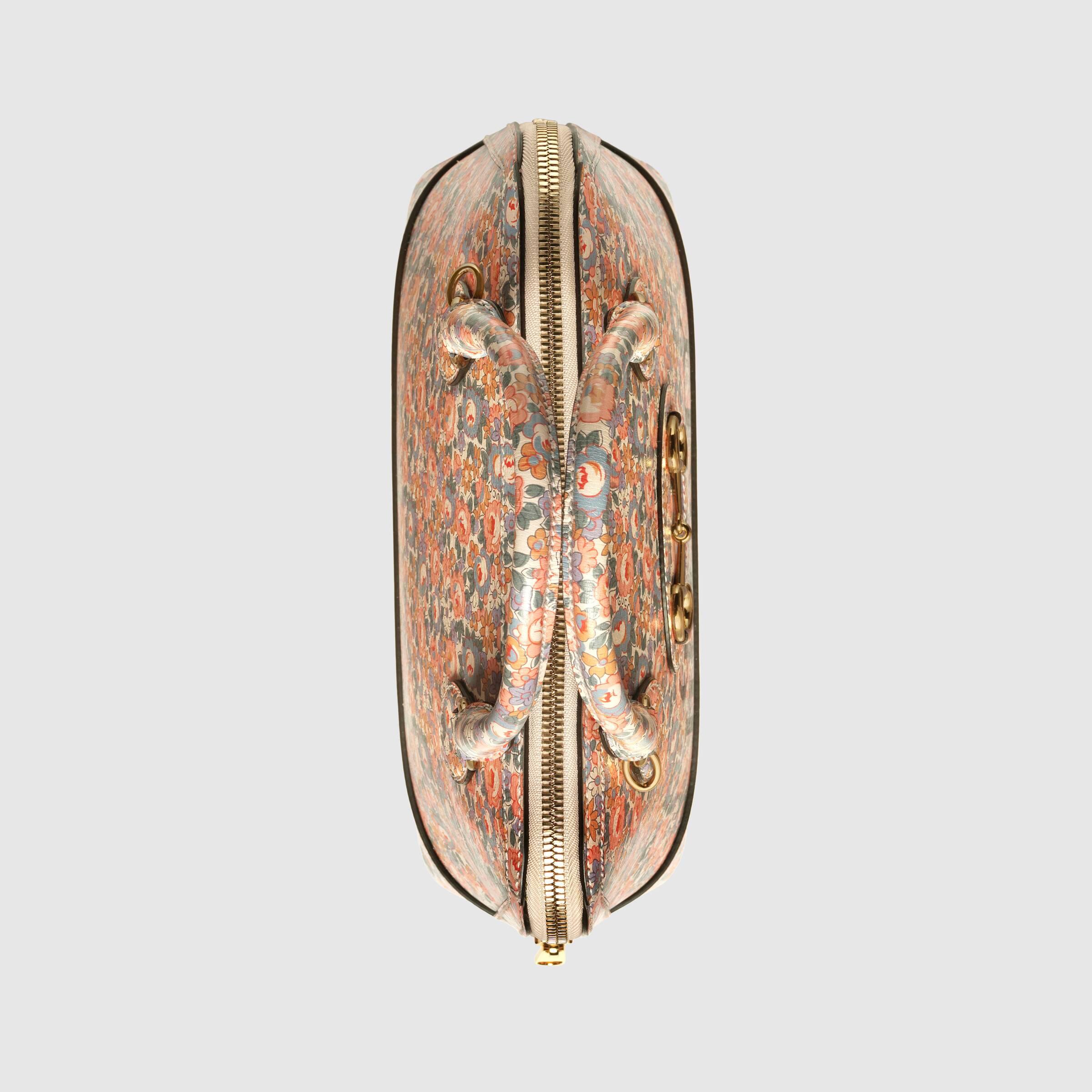 유럽직배송 구찌 GUCCI Gucci - Gucci Horsebit 1955 Liberty London top handle bag 62085013KDE5964