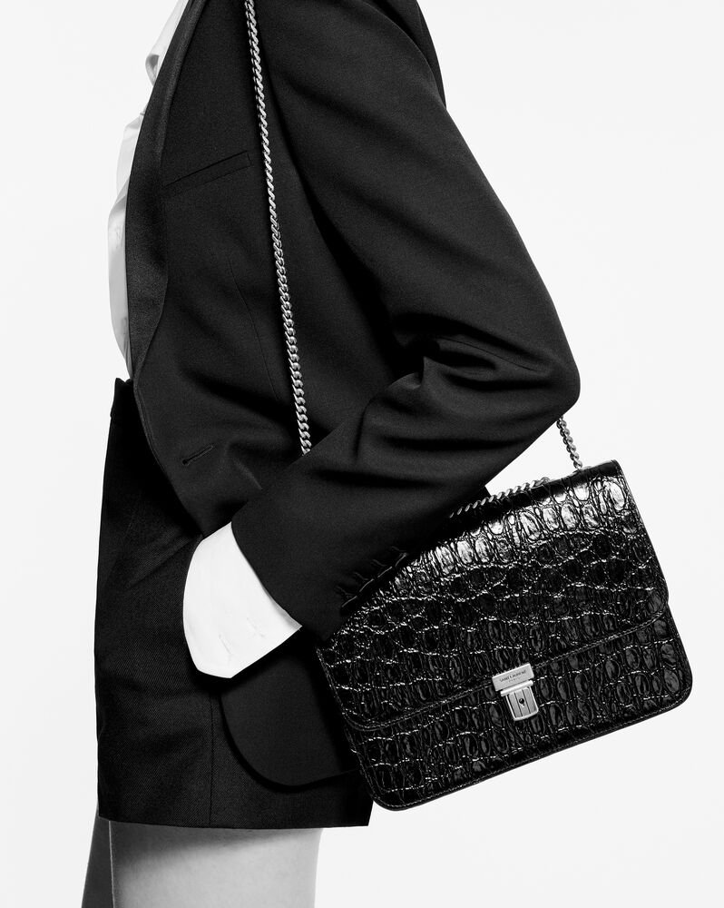 유럽직배송 입생로랑 SAINT LAURENT tuc chain bag in crocodile-embossed leather 6405461ZQ0W2053