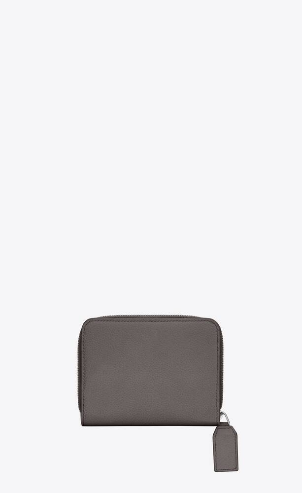 유럽직배송 입생로랑 SAINT LAURENT rive gauche compact zip around wallet in grained leather 414661B680N1202
