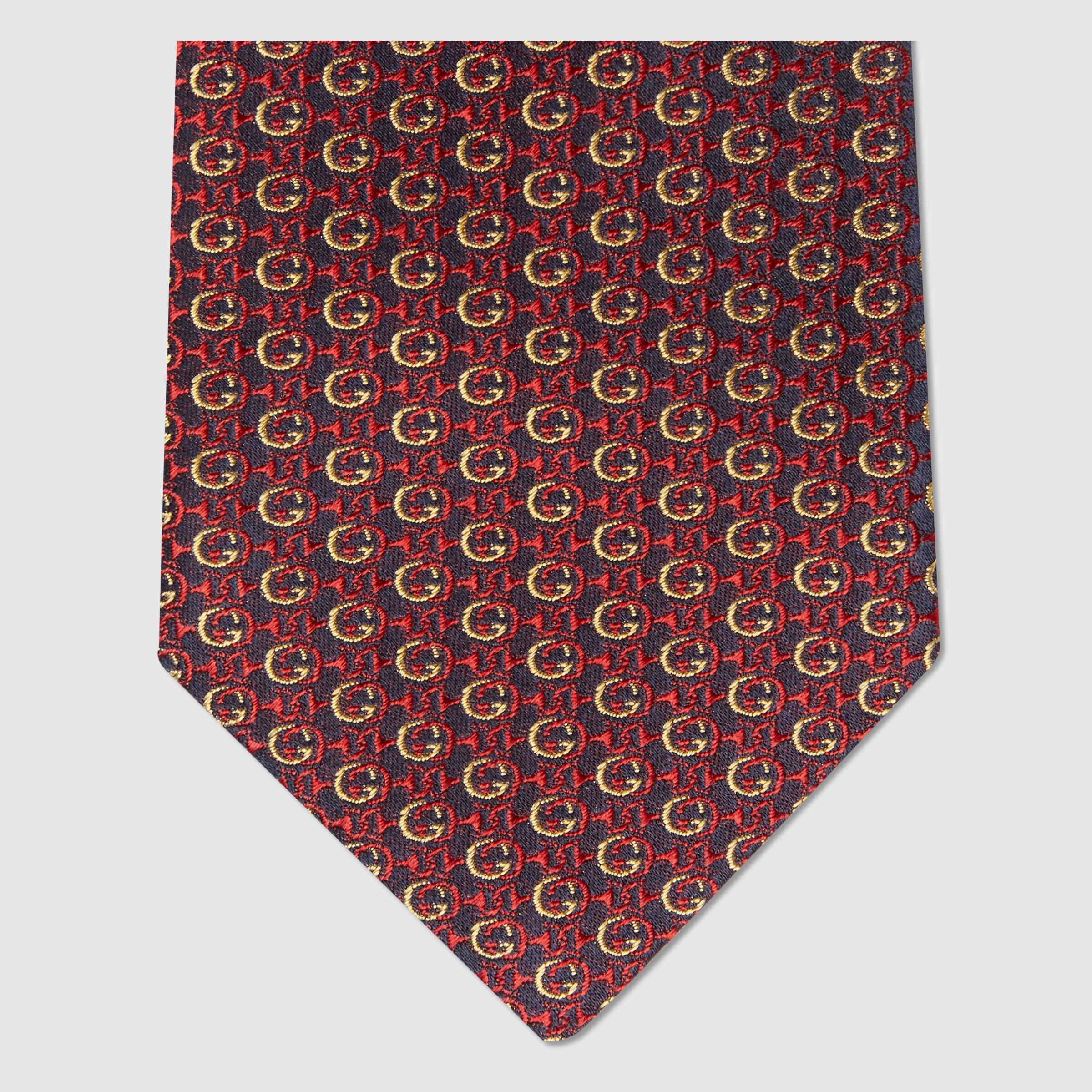 유럽직배송 구찌 GUCCI Gucci Interlocking G Horsebit silk tie 6439944E0024075