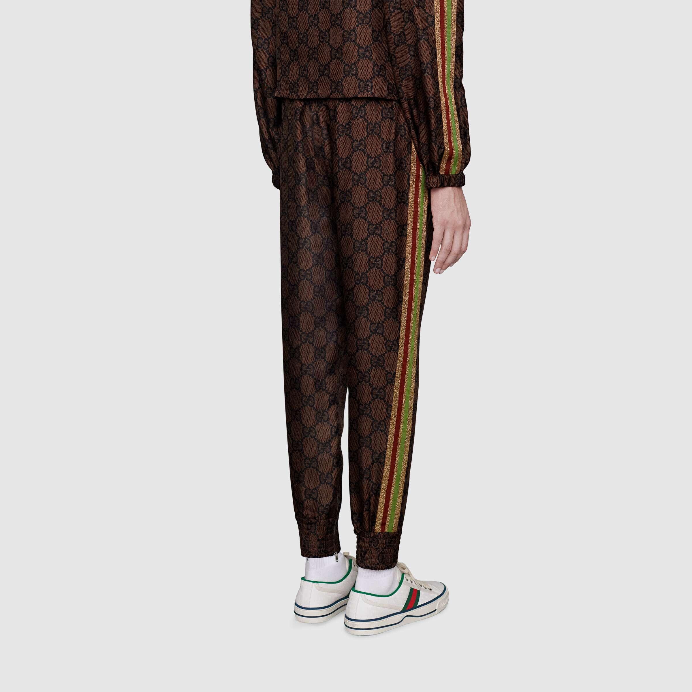 유럽직배송 구찌 GUCCI Gucci GG Supreme print silk trousers 625005XJCL52138