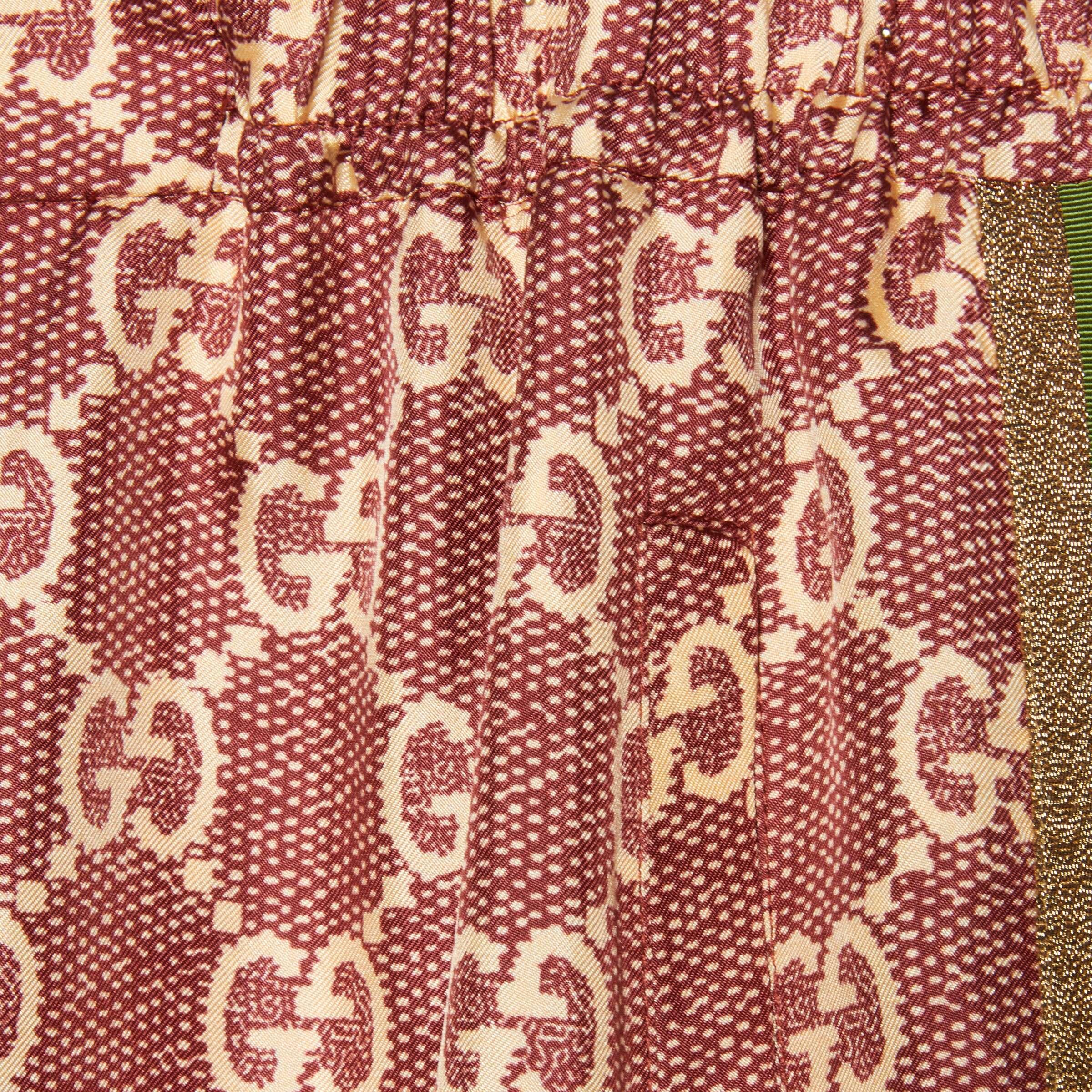 유럽직배송 구찌 GUCCI Gucci GG Supreme print silk pant 625005XJCL55281