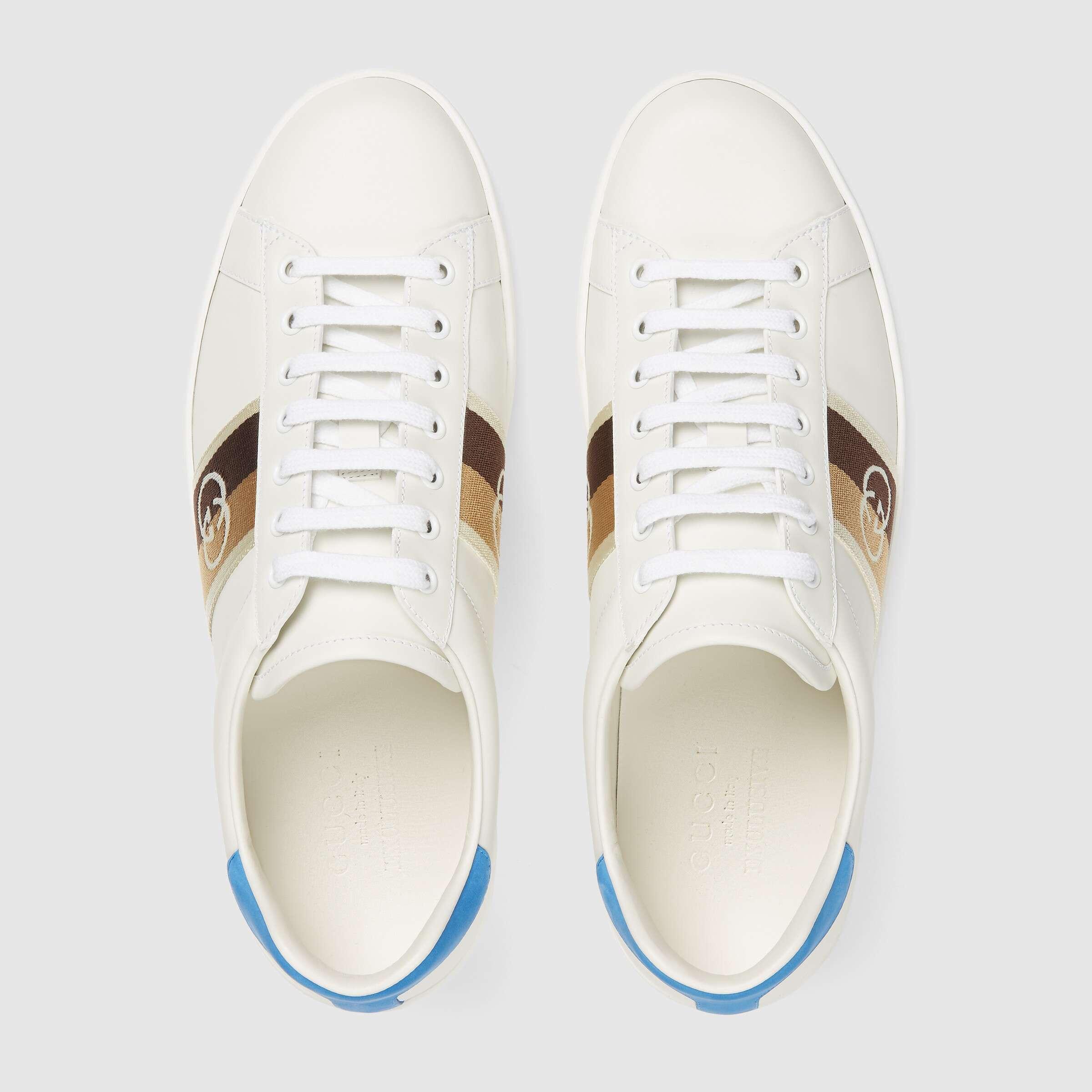 유럽직배송 구찌 GUCCI Gucci Men's Ace sneaker with Interlocking G 6509921XGM09061
