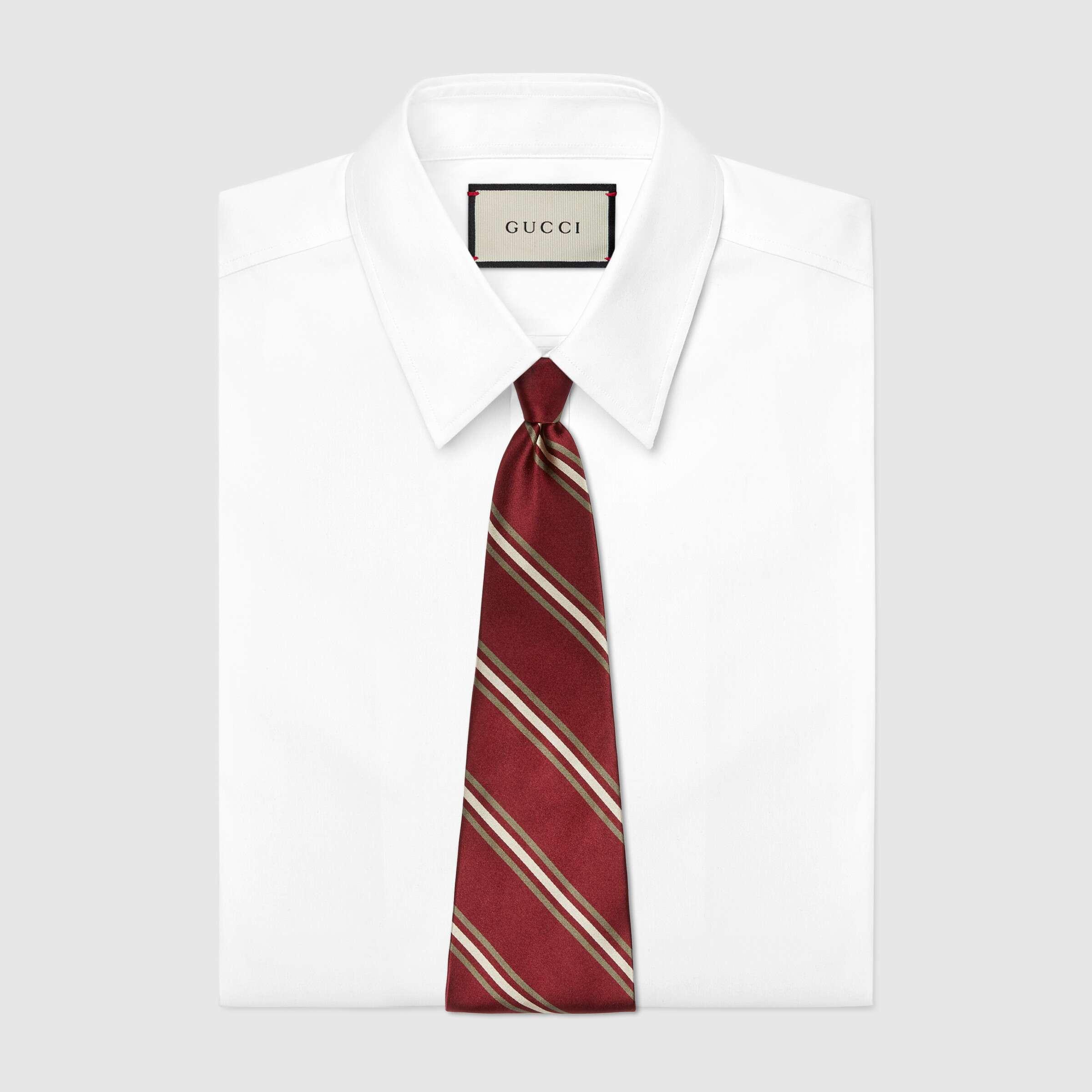 유럽직배송 구찌 GUCCI Gucci Stripe silk tie 6120404X4046278