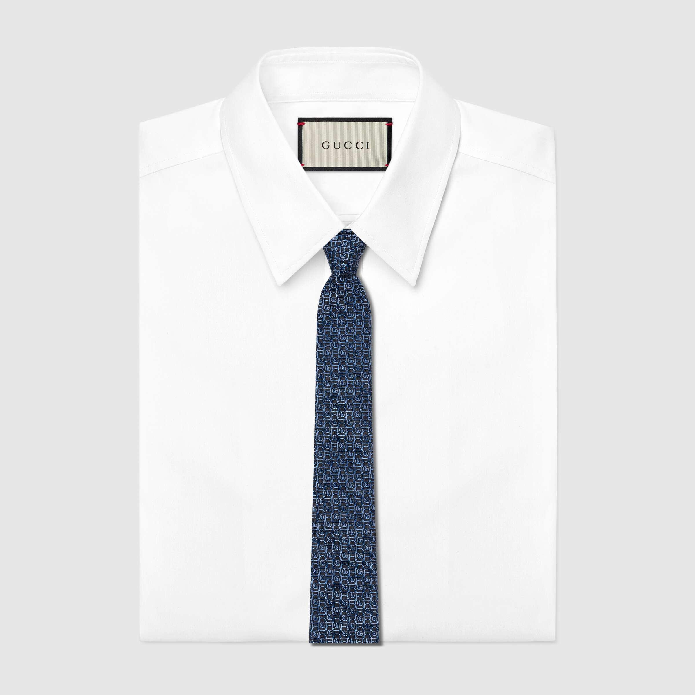 유럽직배송 구찌 GUCCI Gucci Silk tie with framed Double G 6439694E0024369