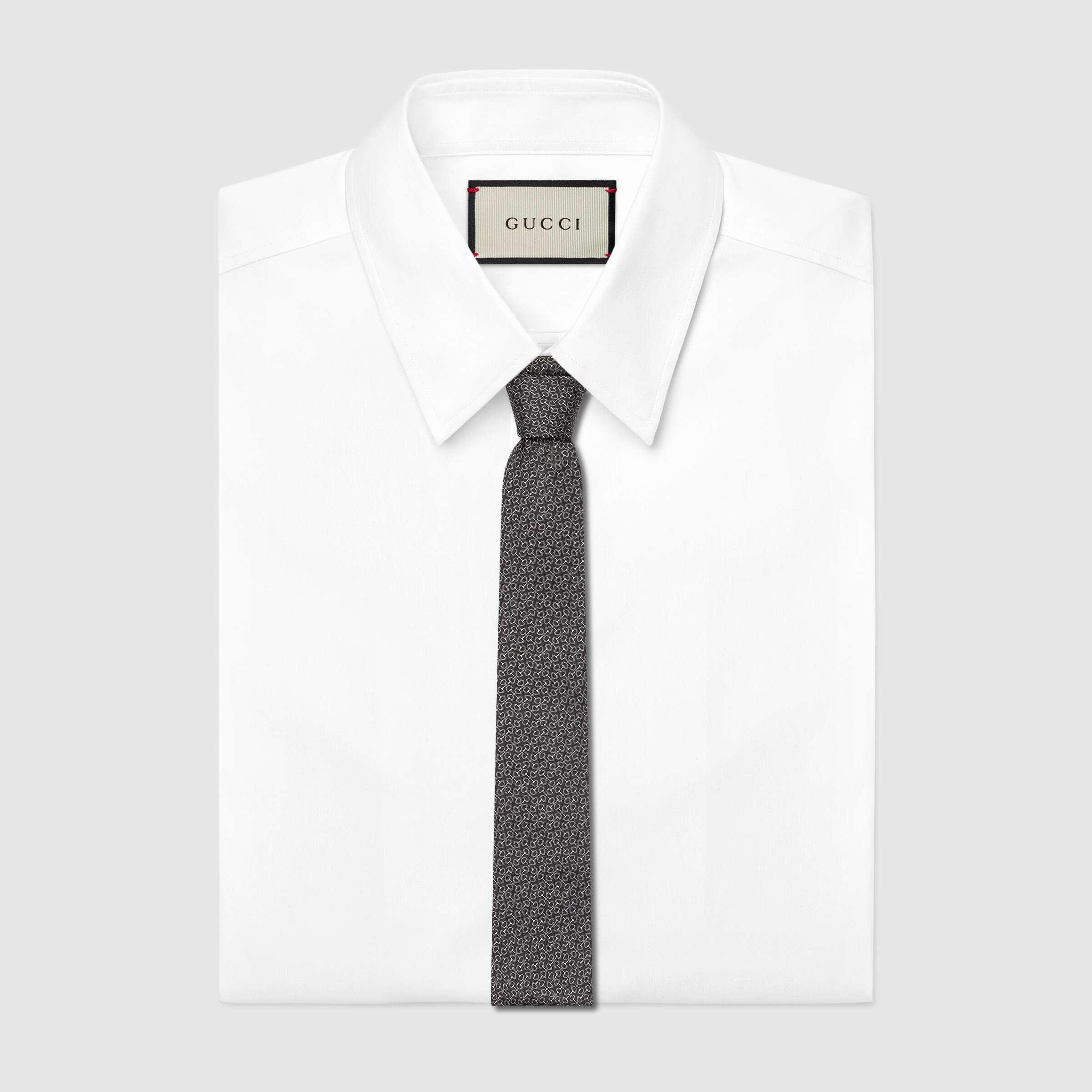 유럽직배송 구찌 GUCCI Gucci Horsebit silk tie 6437854E0021062