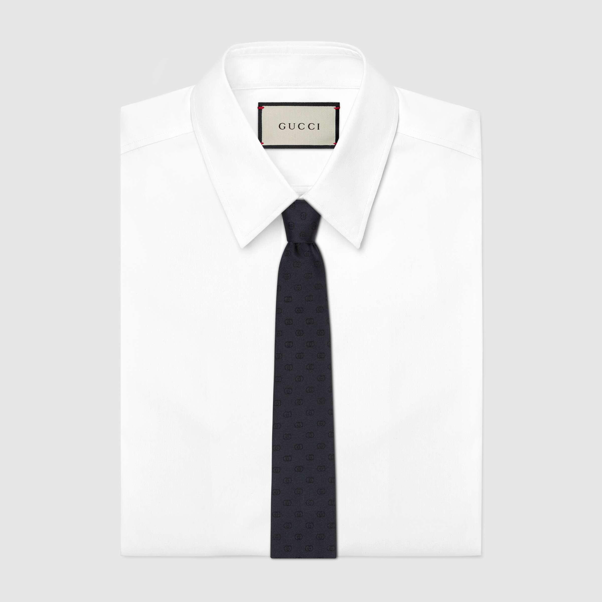유럽직배송 구찌 GUCCI Gucci Interlocking G silk tie 6440014EAAB4100